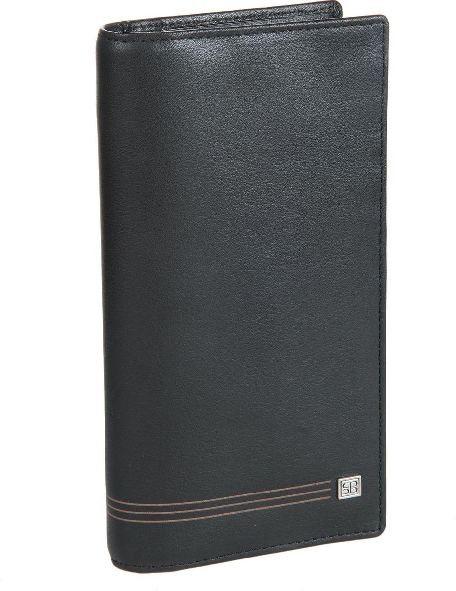 Бумажник мужской Sergio Belotti, цвет: черный. 14621462 west blackраскладывается пополам внутри два отдела для купюр один потайной карман один карман на молнии отделение для монет закрывается клапаном на кнопке восемь карманов для пластиковых карт кармашек для sim- карты