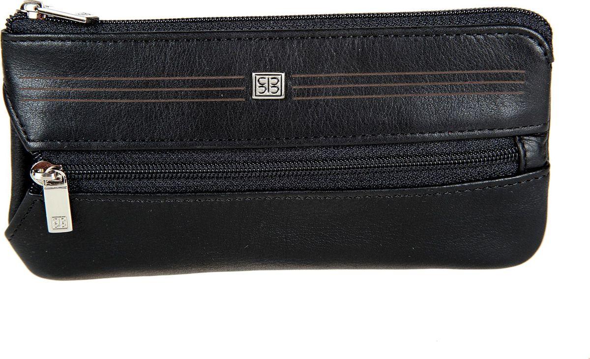 Ключница мужская Sergio Belotti, цвет: черный. 2686-15.52686-15.5 west blackзакрывается на молниювнутри два кольца для ключейснаружи на передней стенке кармашек на молнии в котором четыре держателя для ключей