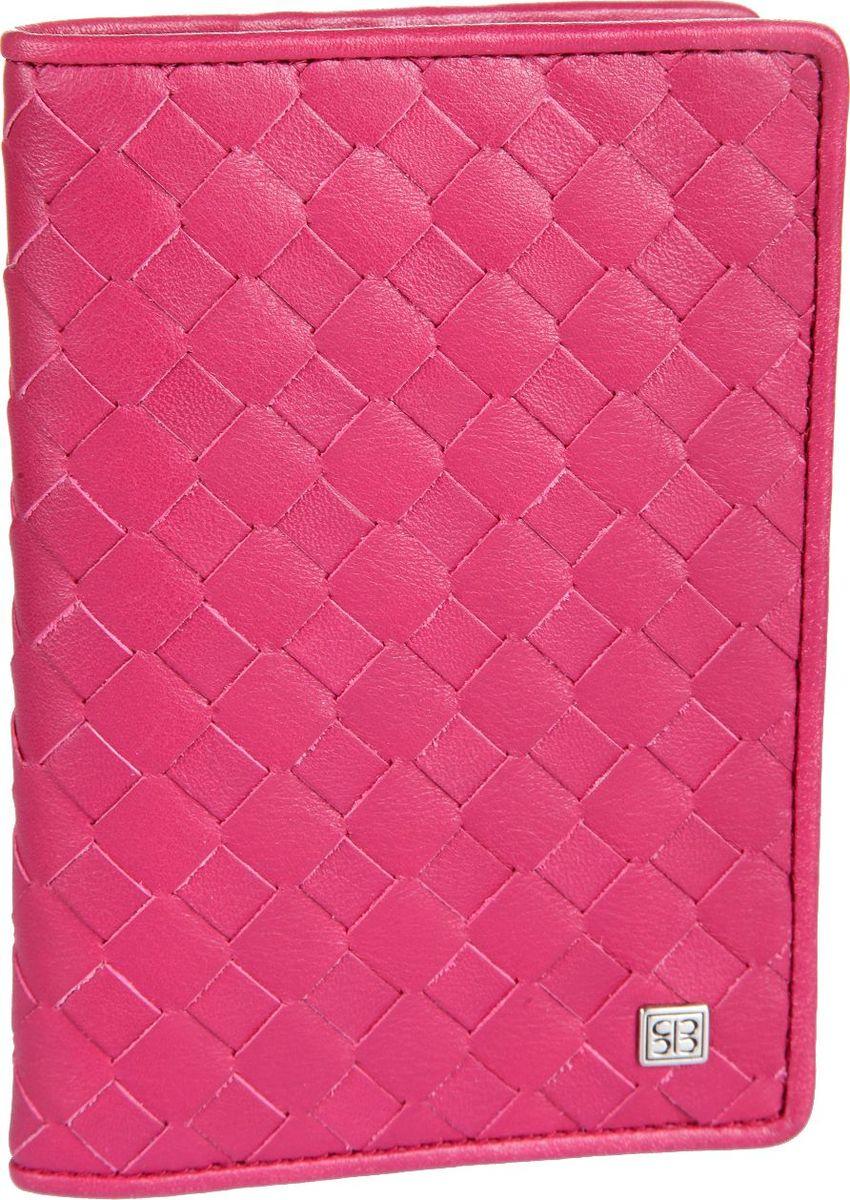 Обложка для паспорта Sergio Belotti, цвет: розовый. 15971597 colorado fuxiaраскладывается попаолам внутри левое поле пластик (ширина 5 см) правое поле натуральная кожа (ширина 7 см) три кармашка для документов