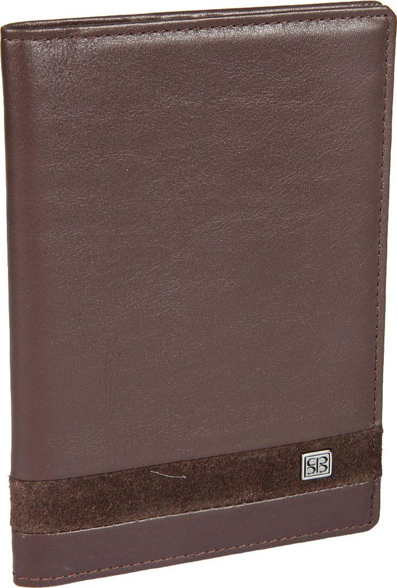 Обложка для паспорта мужская Sergio Belotti, цвет: коричневый. 15971597 novara cioccolatoОбложка для паспорта мужская Sergio Belotti выполнена из натуральной кожи. Модель раскладывается пополам, внутри левое поле шириной 5 см выполнено из пластика, правое поле шириной 7 см - из натуральной кожи. Имеются три кармашка для документов и карман для sim-карты.