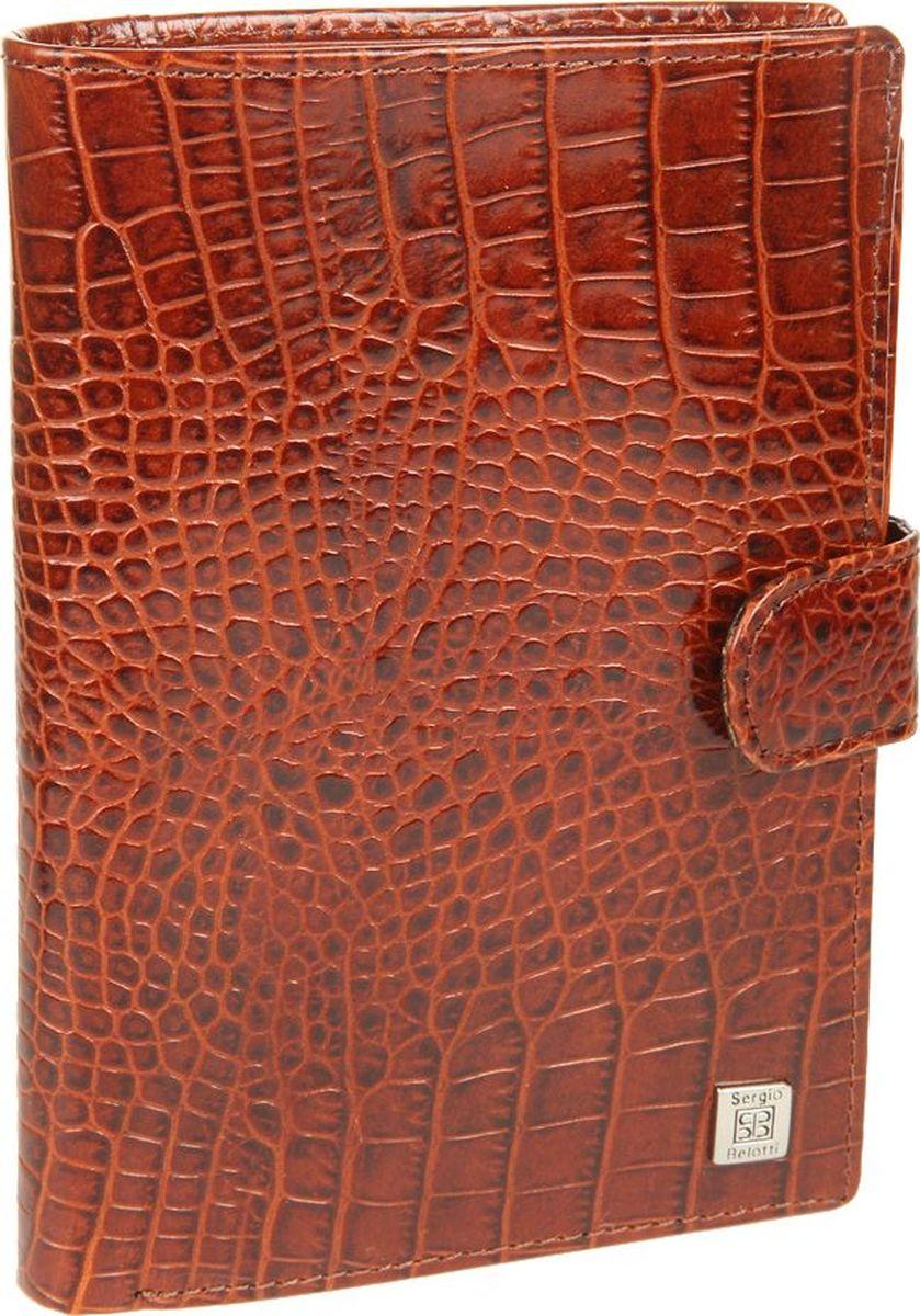 Портмоне женское Sergio Belotti, цвет: коричневый. 23342334 modena cognacзакрывается клапаном на кнопке внутри два отделения для купюр потайной карман на молнии одиннадцать кармашков для пластиковых карт, один из них в сеточку шесть кармашков для документов обложка для паспорта размер 10,5 см x 14 см x 2 см внутренняя сторона обложки левое поле пластик (ширина 5 см) правое поле натуральная кожа (ширина 6,5см) на внутренней стороне обложки три кармашка для документов