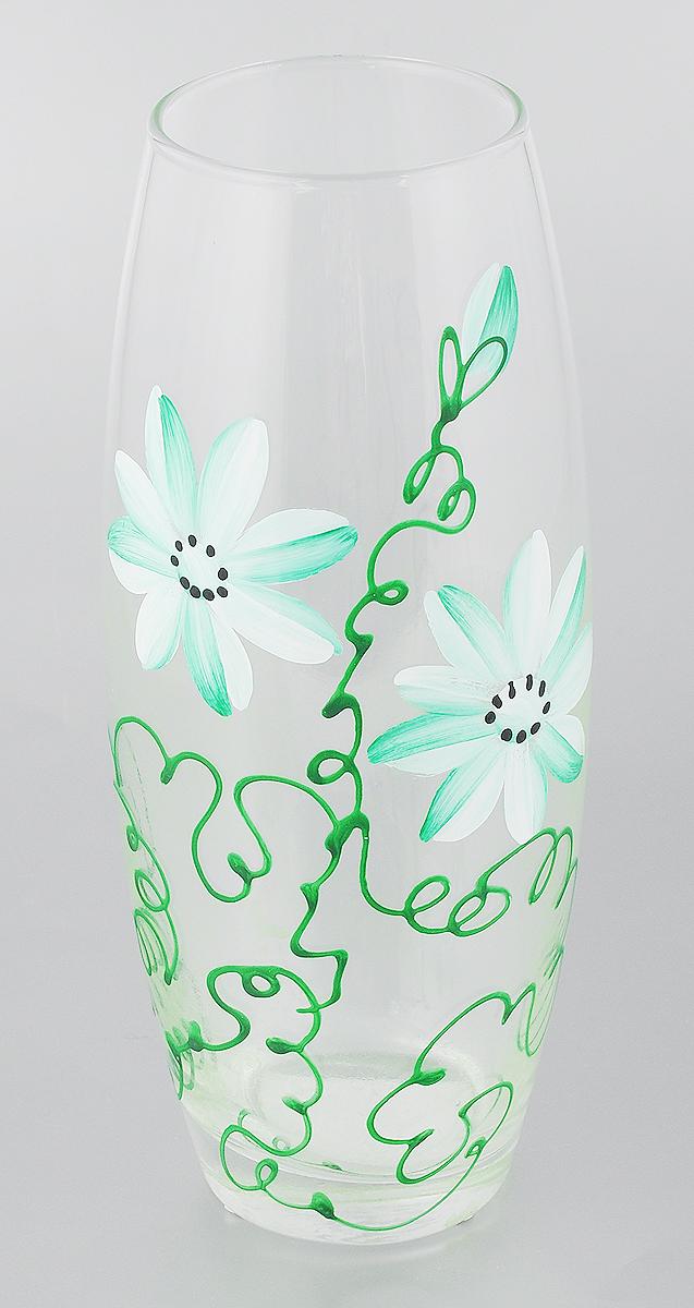 Ваза Pasabahce Ромашка, цвет: прозрачный, зеленый, высота 26 см353-1Элегантная ваза Pasabahce Ромашка выполнена из высококачественного прозрачного стекла и оформлена декоративным узором. Такая ваза подойдет для декора интерьера. Кроме того - это отличный вариант подарка для ваших близких и друзей. Высота вазы: 26 см. Диаметр вазы (по верхнему краю): 8 см. Диаметр основания: 7 см. Объем вазы: 1,9 л.