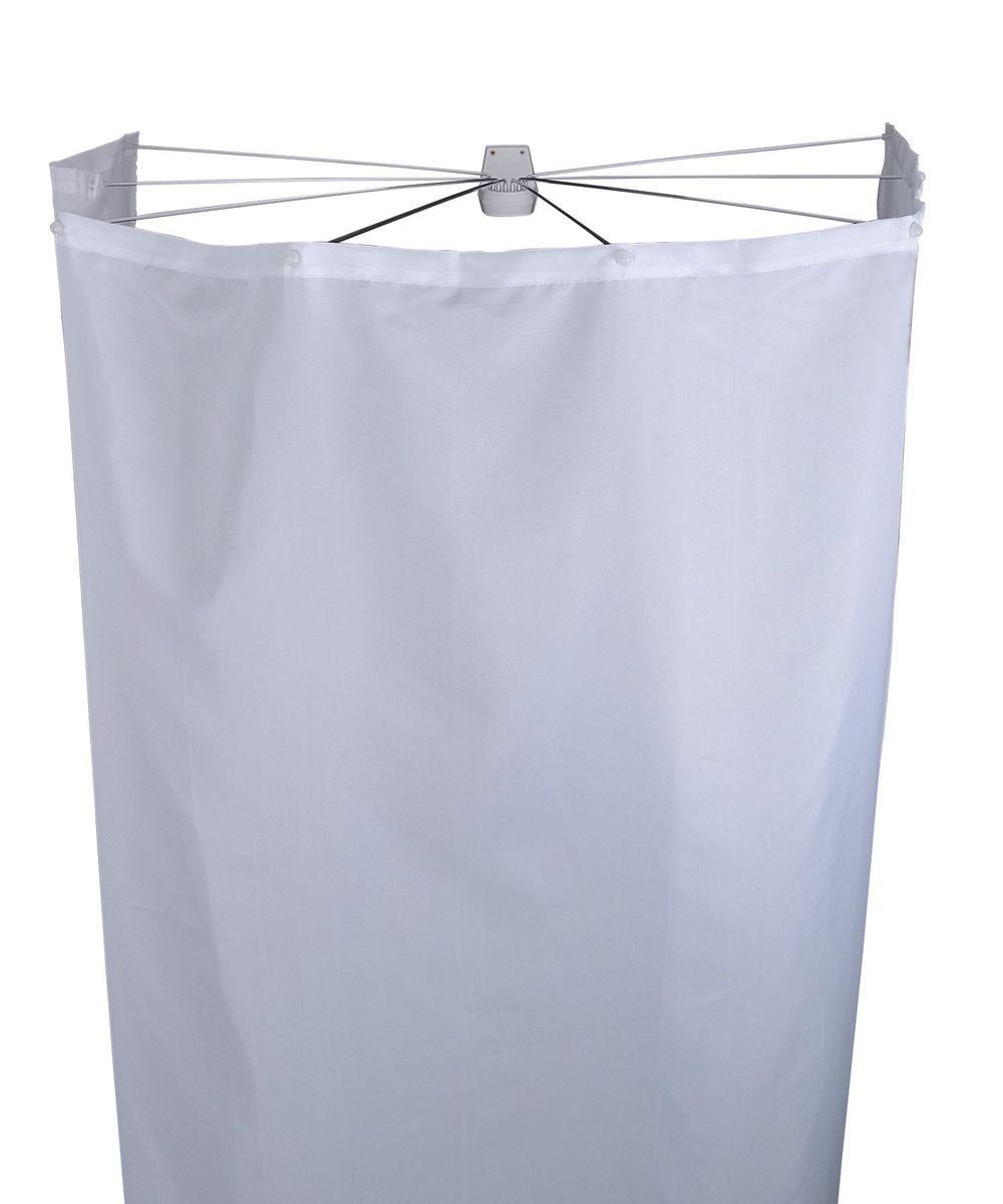 Набор для ванной комнаты Ridder Ombrella, цвет: белый, 2 предмета583010Набор для ванной комнаты Ridder Ombrella состоит из высококачественной немецкой штанги для душа и текстильной шторки. Для предотвращения царапин на штангу из спрессованного алюминия наносится специальное покрытие. Размер штанги: 100 х 70 см. Размер текстильной шторки: 210 х 180 см.
