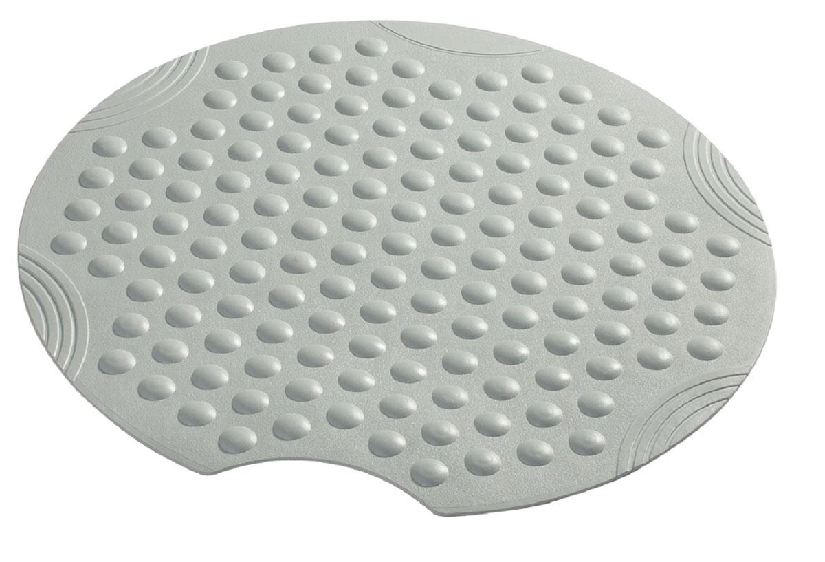 Коврик для ванной Ridder Tecno+, противоскользящий, на присосках, цвет: серый, диаметр 55 смА6800207Высококачественные немецкие коврики Tecno+ созданы для вашего удобства. Состав и свойства противоскользящих ковриков: синтетический каучук с защитой от плесени и грибка, не содержит ПВХ. Имеются присоски для крепления. Безопасность изделия соответствует стандартам LGA (Германия).