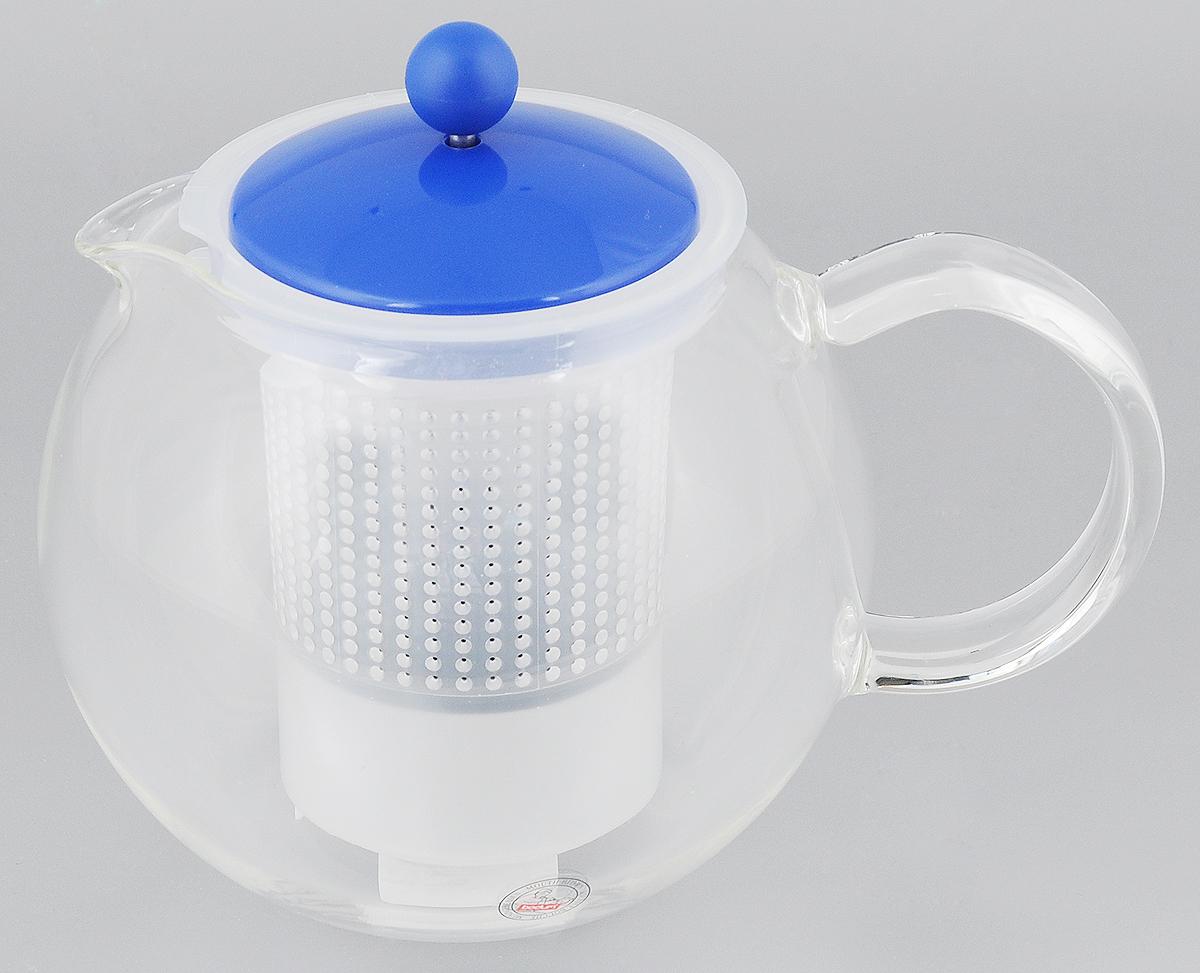 Чайник заварочный Bodum Assam, с фильтром, 1 лA1830-XYB-Y15Заварочный чайник Bodum Assam изготовлен из высококачественного стекла, пластика и нержавеющей стали. Изделие оснащено фильтром, благодаря которому задерживает чаинки и предотвращает попадание их в чашку. Прозрачный корпус обеспечивает легкую очистку. Чайник поможет заварить крепкий ароматный чай и великолепно украсит стол к чаепитию. Можно мыть в посудомоечной машине. Диаметр чайника (по верхнему краю): 9,5 см. Высота чайника (без учета крышки): 12 см. Высота фильтра: 11,5 см.