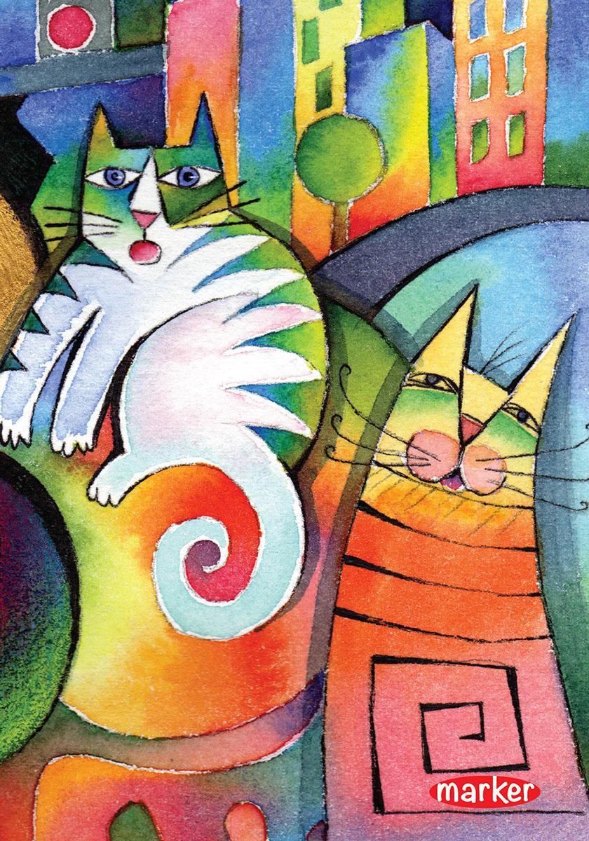 Marker Тетрадь Кот и кошка 100 листов в клеткуM-1190510N-1Тетрадь на спирали Marker Кот и кошка отлично подойдет для различных записей. Дизайнерская обложка выполнена из высококачественного картона. Внутренний блок состоит из 100 листов в клетку.