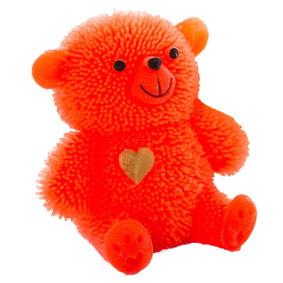 HGL Фигурка Медведь с подсветкой цвет оранжевыйSV10998_оранжевыйФигурка HGL Медведь - это мягкая резиновая игрушка в виде мишки с резиновым ворсом. Взяв игрушку в руки, расстаться с ней просто невозможно! Её не только приятно держать в руках: если перекинуть игрушку из руки в руку, она начнёт мигать цветными огоньками. Данная игрушка рассчитана на широкую целевую аудиторию - как детей от пяти лет, так и взрослых. Медведь обязательно станет самым любимым забавным сувениром. Игрушка работает от 3 незаменяемых батареек AG3 (LR41).