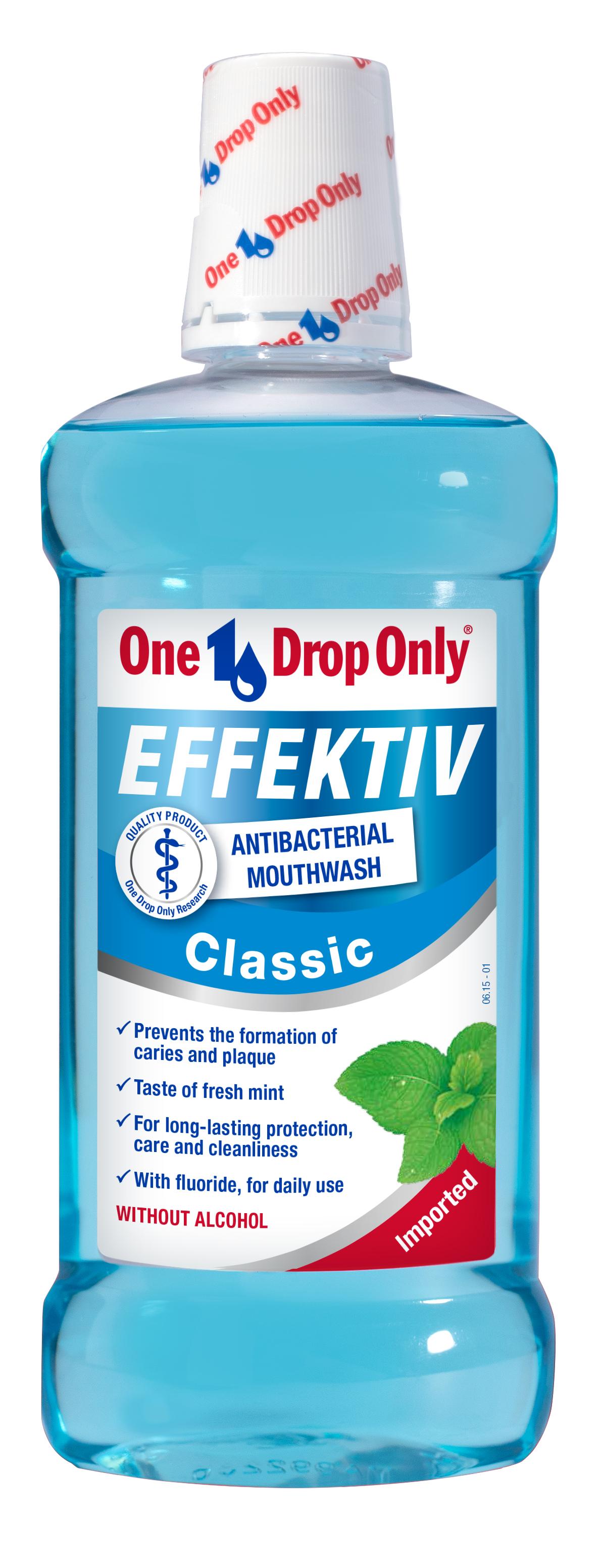 One Drop Only Effektiv Classic Антибактериальный ополаскиватель полости рта, 500 мл