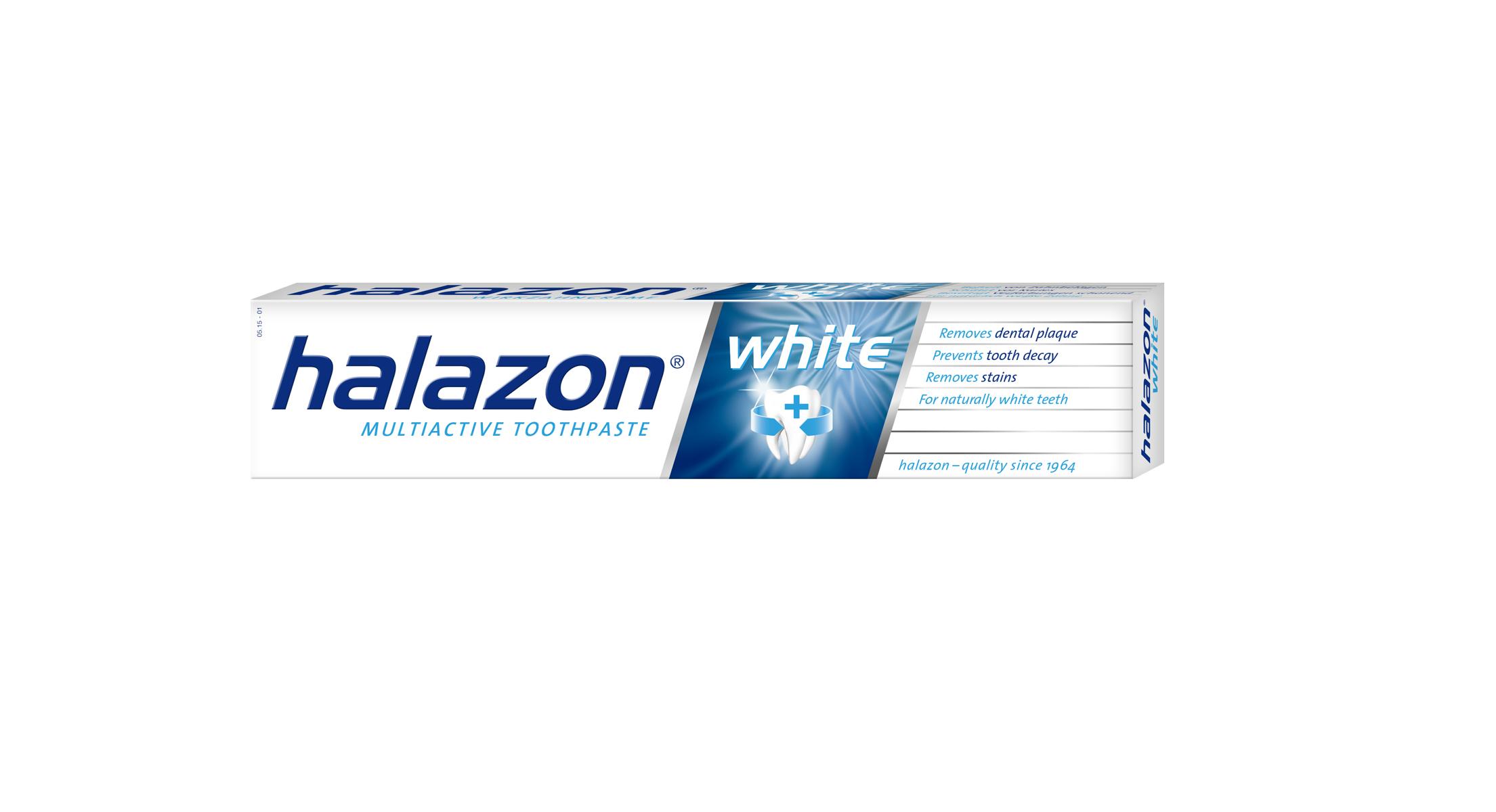 One Drop Only Отбеливающая зубная паста Halazon White для тщательного и щадящего удаления зубного налета, 75mlH12WОтбеливающая зубная паста Halazon White для тщательного и щадящего удаления зубного налета