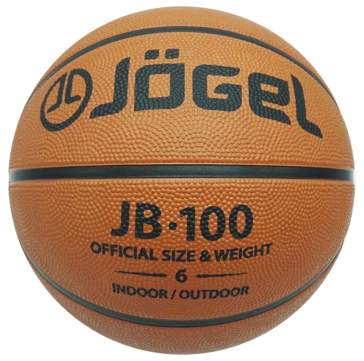 Мяч баскетбольный Jogel, цвет: коричневый. Размер 6. JB-100УТ-00009270Название: Мяч баскетбольный Jgel JB-100 №6 Уровень: Тренировочный мяч Категория: INDOOR/OUTDOOR Описание: Jogel JB-100 №6 это классический резиновый баскетбольный мяч, самая популярная модель для уличного баскетбола, учебных заведений и СДЮШ. Поверхность мяча выполнена из износостойкой резины, благодаря чему данным мячом можно играть практически на любой поверхности, как на улице, так и в зале. Благодаря технологии DeepChannel (глубокие каналы), используемой при производстве мячей Jogel, достигается лучший контроля мяча во время броска и дриблинга. Размер №6 предназначается для женщин и юношей от 12 до 16 лет. Данный мяч рекомендован для любительской игры, тренировок любительских команд и команд среднего уровня. Данный мяч прекрасно подходит для поставок на гос. тендеры, образовательные учреждения и спортивные секции. Официальный размер и вес FIBA. Рекомендованные покрытия: Паркет, резина, бетон, асфальт Материал поверхности: Износостойкая резина Материал камеры: Бутил Тип...