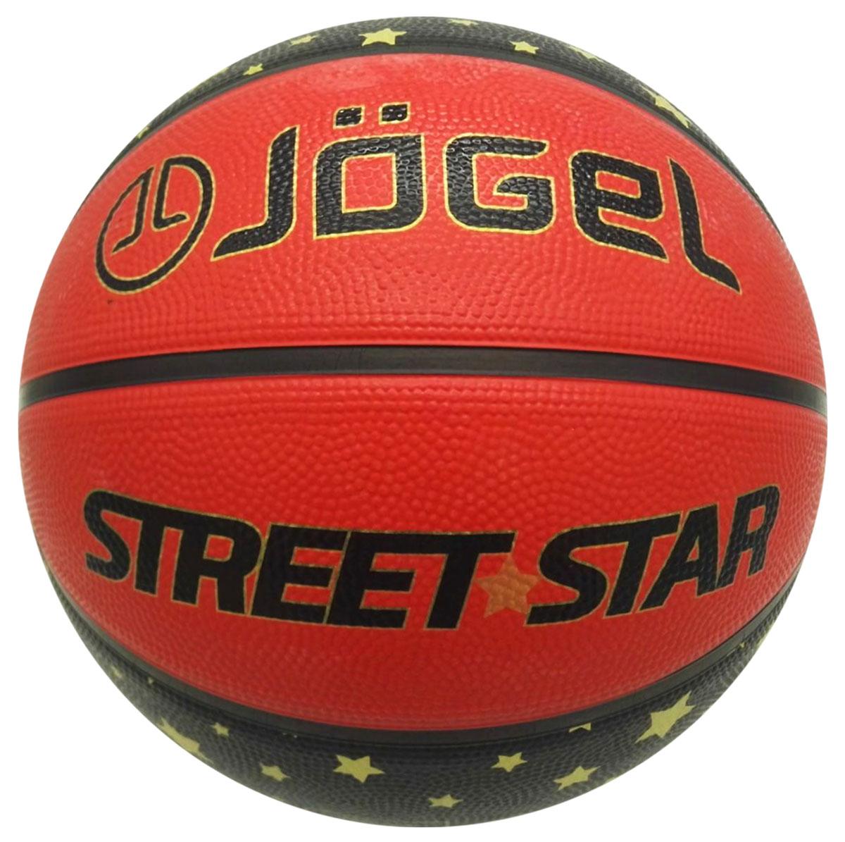 Мяч баскетбольный Jogel Street Star, цвет: оранжевый . Размер 7УТ-00009273Название: Мяч баскетбольный Jgel Street Star №7 Уровень: Тренировочный мяч Категория: INDOOR/OUTDOOR Описание: Jogel Street Star №7 это резиновый баскетбольный мяч, с уникальным ламинированным цветным дизайном для уличного баскетбола (стритбол). Поверхность мяча выполнена из износостойкой резины, благодаря чему данным мячом можно играть практически на любой поверхности, как на улице, так и в зале. Благодаря технологии DeepChannel (глубокие каналы), используемой при производстве мячей Jogel, достигается лучший контроля мяча во время броска и дриблинга. Размер №7 предназначается для мужчин и юношей от 17 лет, официальный размер для соревнований мужских команд. Данный мяч рекомендован для любительской игры, тренировок любительских команд и команд среднего уровня. Официальный размер и вес FIBA. Рекомендованные покрытия: Паркет, резина, бетон, асфальт Материал поверхности: Износостойкая резина Материал камеры: Бутил Тип соединения панелей: Цельный Количество панелей: 8 Размер: 7...