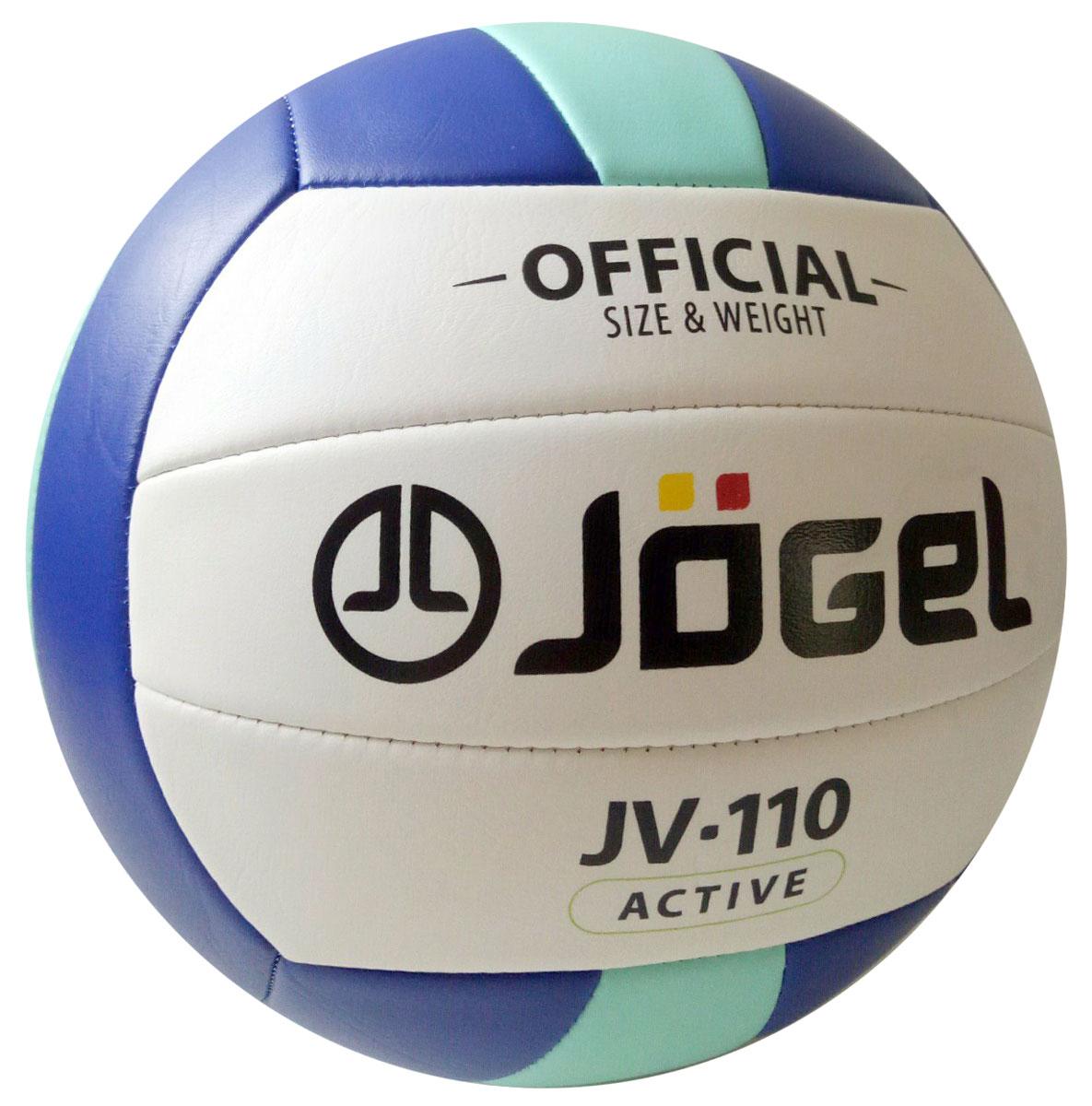 """Мяч волейбольный """"Jogel"""", цвет: синий, мятный. Размер 5. JV-110 УТ-00009280"""