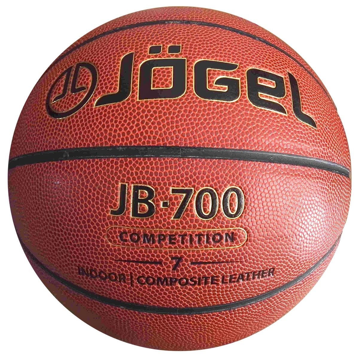 Мяч баскетбольный Jogel, цвет: коричневый. Размер 7. JB-700УТ-00009331Название: Мяч баскетбольный Jgel JB-700 №7 Уровень: Матчевый мяч Серия: COMPETITION Категория: INDOOR Описание: Jogel JB-700 №7 и не выскальзывает из рук во время броска или дриблинга. Размер №7 предназначается для мужчин и юношей от 17 лет, официальный размер для соревнований мужских команд. Данный мяч рекомендован для тренировок и соревнований команд высокого уровня. Официальный размер и вес FIBA. Рекомендованные покрытия: Паркет Материал поверхности: Композитный материал (микрофибра) Материал камеры: Бутил Тип соединения панелей: Клееный Количество панелей: 8 Размер: 7 Вес: 567-650 гр. Длина окружности: 75-78 см Рекомендованное давление: 0.5-0.6 бар Количество в коробке: 24 шт. Основной цвет: Коричневый Дополнительный цвет: Черный Бренд: Jogel Страна бренда: Германия Производство: КНР