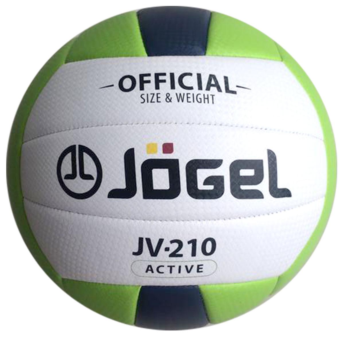 """Мяч волейбольный """"Jogel"""", цвет: зеленый, темно-синий. Размер 5. JV-210 УТ-00009340"""