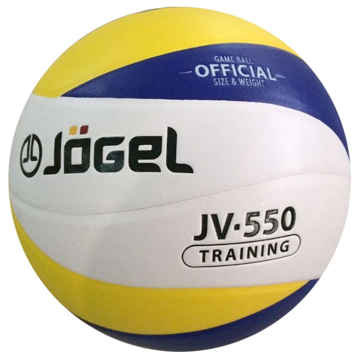 Мяч волейбольный Jogel, цвет: синий, желтый. Размер 5. JV-550УТ-00009343Название: Мяч волейбольный Jgel JV-550 Уровень: Тренировочный мяч Серия: TRAINING Описание: Jogel JV-550 клееный тренировочный мяч из новой Коллекции 12-панельных мячей Jogel. Уникальный дизайн панелей, новинка на российском рынке! Поверхность мяча выполнена из синтетической кожи (полиуретан), обладающей хорошей износостойкостью и высокими игровыми характеристиками. Мяч состоит из 12-ти панелей, оснащен бутиловой камерой и армирован подкладочным слоем из ткани. Рекомендован для любительской игры, тренировок и соревнований любительских команд и команд среднего уровня. Данный мяч подходит для поставок на гос. тендеры, образовательные учреждения и спортивные секции. Официальный размер и вес FIBV. Рекомендованные покрытия: Паркет, песок, резина Материал покрышки: Синтетическая кожа (полиуретан) Материал камеры: Бутил Тип соединения панелей: Клееный Количество панелей: 12 Размер: 5 Вес: 260-280 гр. Длина окружности: 65-67 см Рекомендованное давление: 0.29-0.32 бар Количество в коробке:...