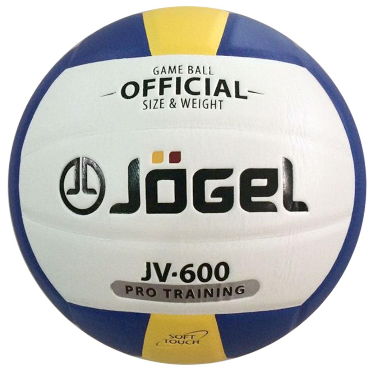 Мяч волейбольный Jogel, цвет: синий, желтый. Размер 5. JV-600УТ-00009344Название: Мяч волейбольный Jgel JV-600 Уровень: Тренировочно-игровой мяч Серия: PRO TRAINING Описание: Jogel JV-600 клееный волейбольный мяч из серии PRO TRAINING. Данная модель предназначена для профессиональных тренировок, благодаря чему обладает всеми необходимыми характеристиками для интенсивных занятий. Поверхность мяча выполнена из мягкой высококачественной синтетической кожи (полиуретан), с применением технологии Soft Touch, имитирующей по ощущениям натуральную кожу и обеспечивающей правильный отскок. Мяч состоит из 18-ти панелей, оснащен бутиловой камерой и армирован подкладочным слоем из ткани. Рекомендован для тренировок команд среднего и высокого уровня, а также соревнований любительских и средних команд. Данный мяч прекрасно подходит для поставок на гос. тендеры, образовательные учреждения и спортивные секции. Официальный размер и вес FIBV. Рекомендованные покрытия: Паркет, песок Материал покрышки: Синтетическая кожа (полиуретан) Материал камеры: Бутил Тип соединения...