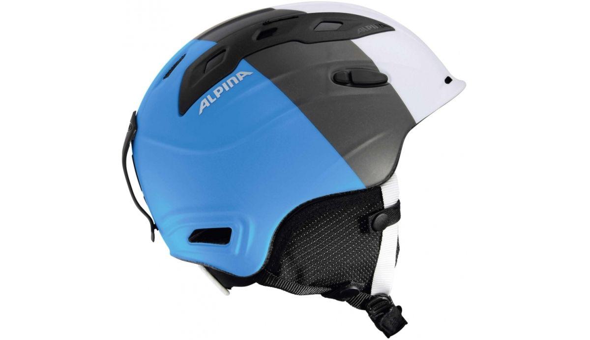 Шлем зимний Alpina Snowmythos, цвет: белый, серебряный, синий. Размер 55-59. 9062_169062_16Экстремально легкая модель с прекрасными защитными свойствами. Для тех, ищет недорогую модель с клеймом «Сделано в Германии». Технологии: INMOLD TEC – технология соединения внутренней и внешней части шлема при помощи высокой температуры. Данный метод делает соединение исключительно прочным, а сам шлем легким. Такой метод соединения гораздо надежнее и безопаснее обычного склеивания. CERAMIC – особая технология производства внешней оболочки шлема. Используются легковесные материалы экстремально прочные и устойчивые к царапинам. Возможно использование при сильном УФ изучении, так же поверхность имеет антистатическое покрытие. RUN SYSTEM – простая система настройки шлема, позволяющая добиться надежной фиксации. AIRSTREAM CONTROL – регулируемые воздушные клапана для полного контроля внутренней вентиляции. REMOVABLE EARPADS - съемные амбушюры добавляют чувства свободы во время катания в теплую погоду, не в ущерб безопасности. При падении температуры, амбушюры легко устанавливаются...