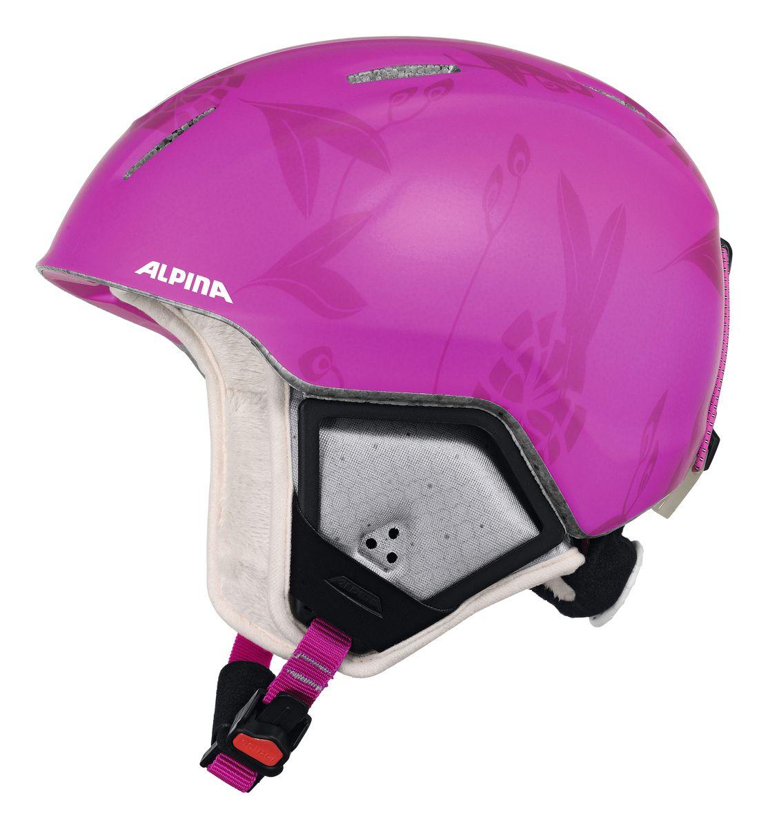 """Шлем зимний Alpina """"Carat Xt"""", цвет: розовый. Размер 51-55. 9080_53"""