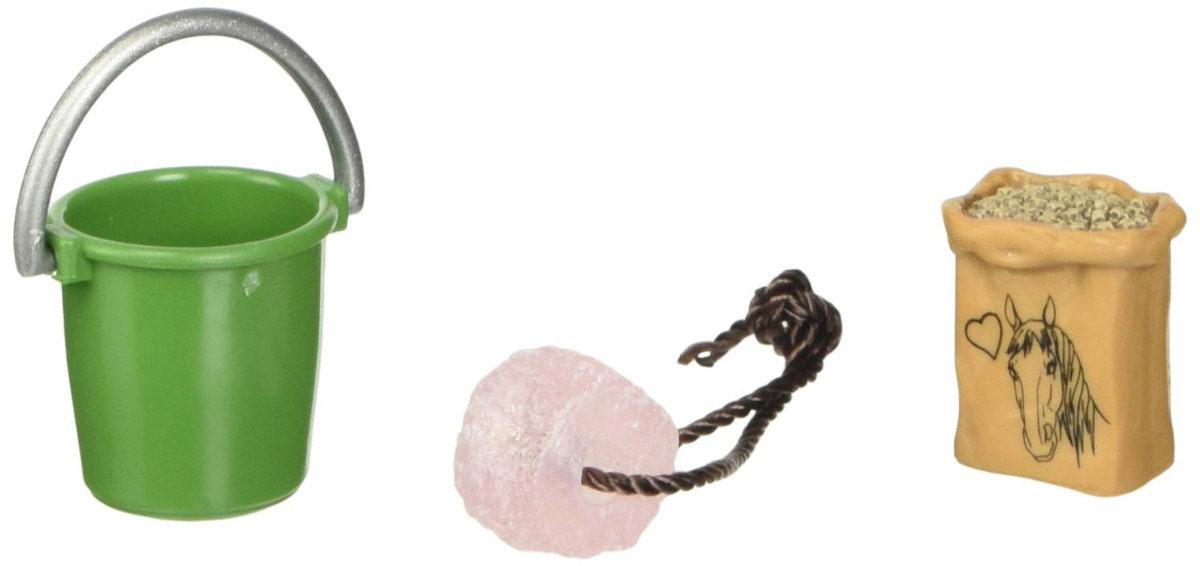 Schleich Игровой набор для ухода за животными42197Игровой набор для ухода за животными Schleich поможет сделать игру ребенка еще более увлекательной, а жизнь на игрушечной ферме полноценной и удобной. В набор входят: мешок с овсом, зеленое ведро, лакомство для лошадки. Все игрушки из набора выполнены из качественного каучукового пластика с мельчайшей прорисовкой деталей. Игровые элементы имеют реалистичный внешний вид, приятны на ощупь и позволяют детям играть с большим удовольствием.