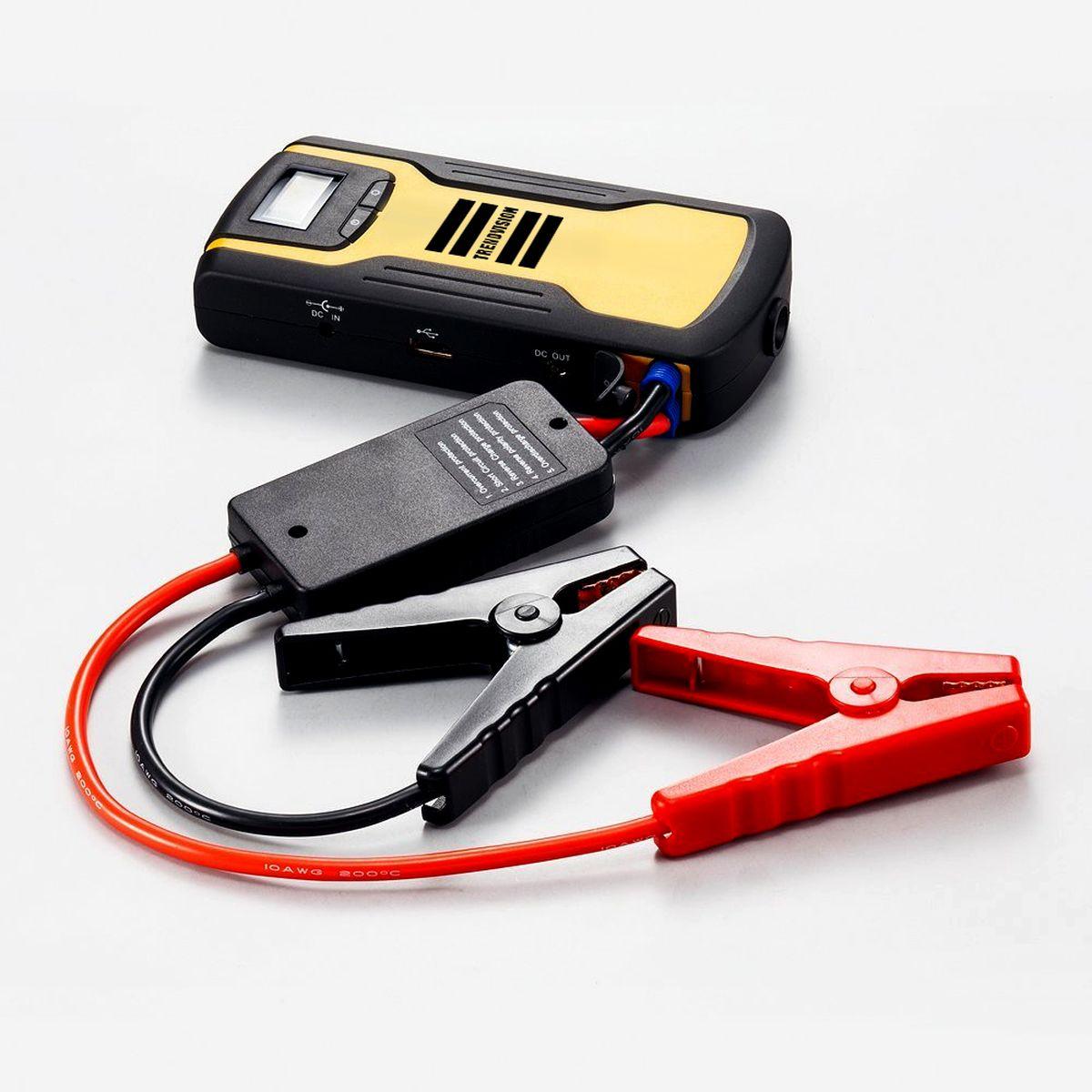 Пуско-зарядное устройство TrendVision Start 11000, многофункциональноеTVS110Устройство позволяет запустить двигатель автомобиля, когда штатный аккумулятор не может с этим справиться. Также TrendVision Start 11000 зарядит Ваш планшет, смартфон, фото и видео аппаратуру