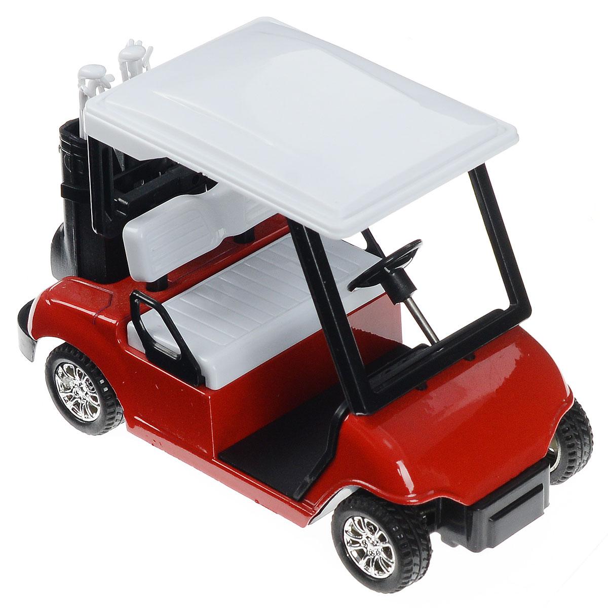 Технопарк Машинка инерционная Гольф-карт925943-RМашинка инерционная ТехноПарк Гольф-карт, выполненная из металла и безопасного пластика, станет любимой игрушкой вашего малыша. Машинка представляет собой уменьшенную копию настоящего автомобиля, который используют для передвижения по полю для гольфа. Механизм, встроенный в игрушечный автомобиль, позволяет ему ездить самостоятельно. Для активизации механизма необходимо просто откатить машинку назад, а потом отпустить. Ваш ребенок будет часами играть с этой машинкой, придумывая различные истории. Такая машинка порадует не только детей, но и взрослых коллекционеров, и займет достойное место в любой коллекции.