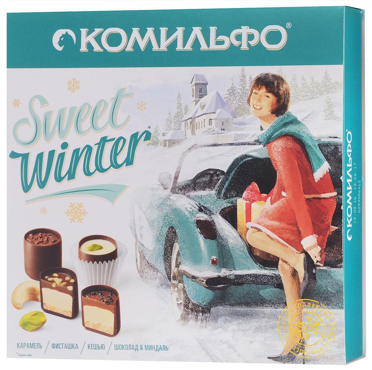 Комильфо Sweet Winter шоколадные конфеты ассорти, 232 г 12287017