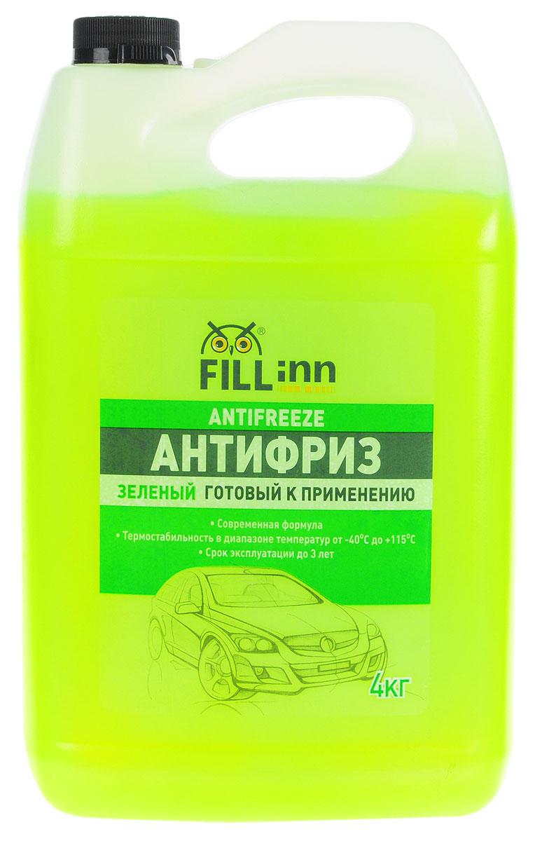 Антифриз Fill Inn, готовый, цвет: зеленый, 4 кгFL036Охлаждающая низкозамерзающая жидкость нового поколения, произведена на основе высокоочищенного моноэтиленгликоля и современного пакета присадок, которые: - предохраняют двигатель от размораживания и перегрева; - предотвращают коррозию стальных, чугунных, медных, латунных и алюминиевых поверхностей; - не оказывают вредного воздействия на резину, пластмассу и лакокрасочные покрытия; - препятствуют отложению накипи на внутренних поверхностях системы охлаждения, что особенно важно для поддержания оптимального теплового режима, обеспечения нормальной работы термостата и водяного насоса; - обеспечивают надежную смазку подвижных деталей водяного насоса; -препятствуют пенообразованию. Антифриз обладает термостабильностью в диапазоне от -400С до +1150С. Смешивается со всеми охлаждающими жидкостями на основе моноэтиленгликоля (кроме антифриза, изготовленного по карбоксилатной технологии). Антифриз безопасен для стальных,...