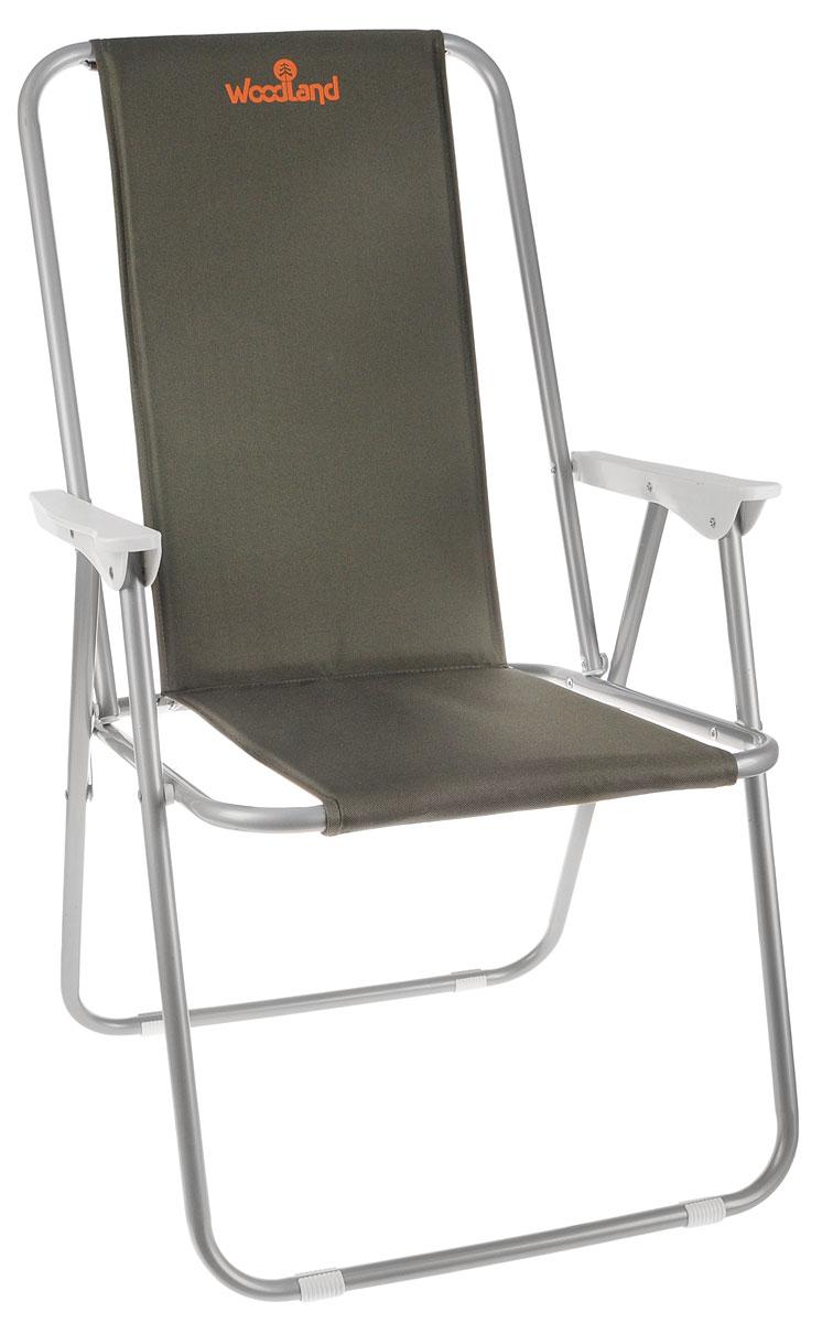 Кресло складное Woodland Relax, 59 см х 52 см х 86 см0036498Складное кресло Woodland Relax предназначено для создания комфортных условий в туристических походах, охоте, рыбалке и кемпинге. Особенности: Компактная складная конструкция. Прочный стальной каркас диаметром 18 мм. Ткань Oxford имеет водоотталкивающее покрытие. Высота сиденья: 38 см. Высота спинки: 86 см.