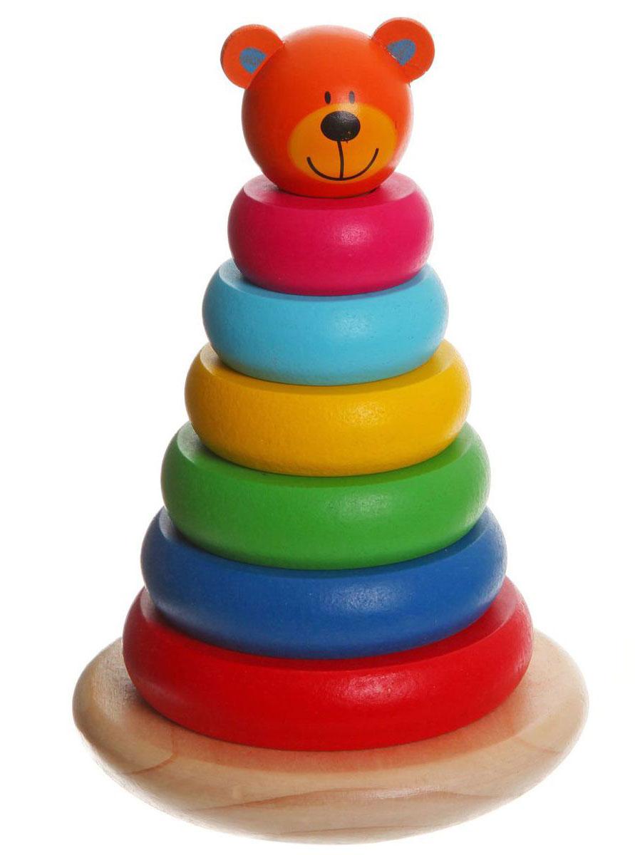 Bondibon Пирамидка МедвежонокВВ1103Мудрые родители выбирают для своих малышей игрушки, которые обучают малыша в процессе увлекательной игры, формируют его внутренний мир и не вредят здоровью. Деревянные развивающие игрушки, детали которых выполнены из различных пород дерева - клена, можжевельника, березы - это не просто яркий предмет, способный надолго увлечь ребенка, но и его первый учитель, рассказывающий о мире на понятном крохе языке. Пирамидка Bondibon Медвежонок развивает мелкую моторику, логическое мышление и координацию движений.