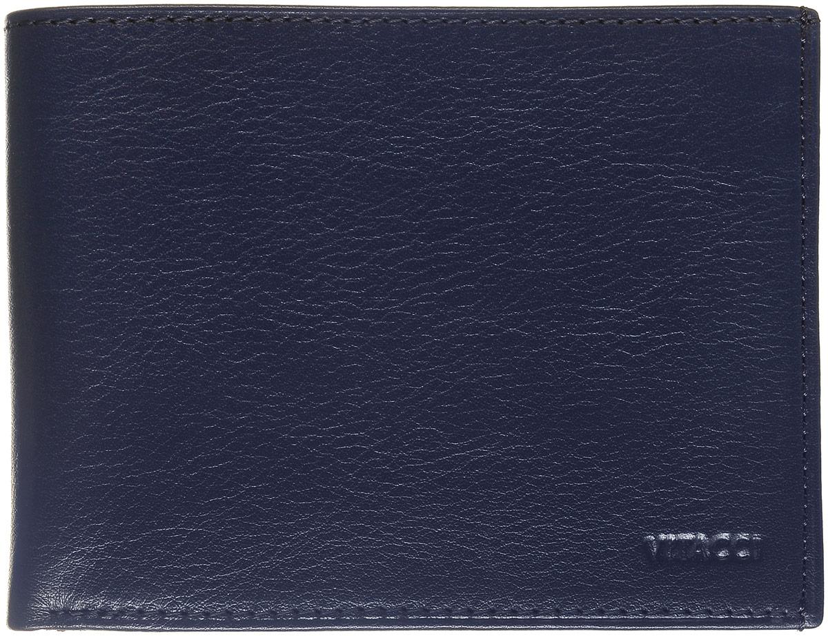 Кошелек мужской Vitacci, цвет: темно-синий. GU033GU033Кошелек Vitacci выполнен из натуральной кожи зернистой текстуры и оформлен тисненой надписью с названием бренда. Внутри расположено два открытых отделения для купюр, два вертикальных открытых кармана для визиток и карт, один вшитый карман на молнии для купюр и отделение для мелочи, которое закрывается клапаном на кнопку. Также внутри расположено отделение, закрывающееся хлястиком на кнопку. Оно содержит три вертикальных кармана с вставками из пластиковой сетки и шесть прорезных карманов для карт. Изделие упаковано в фирменную коробку.