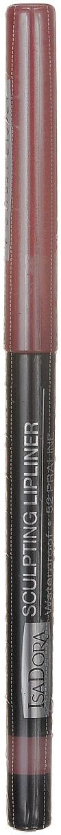 Isadora карандаш для губ водостойкий Sculpting lipliner waterproof 52 3 гр121352Cкульптурирует губы и придает им визуальный объем, предотвращает размазывание помады и делает макияж губ более стойким.