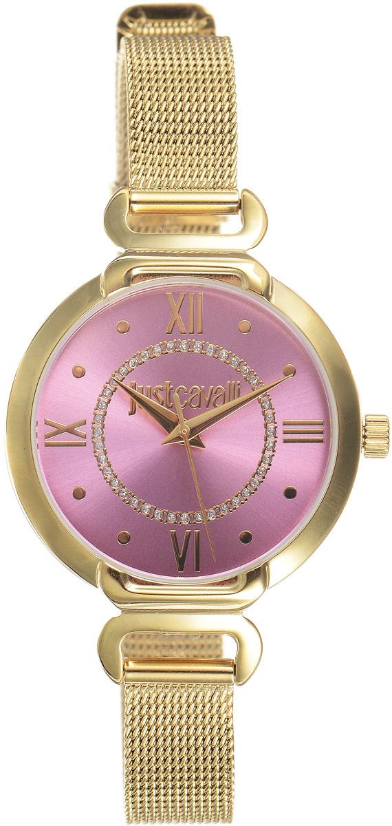 Наручные часы женские Just Cavalli Hook j, цвет: золотой. R7253526501R7253526501Стильные женские часы Just Cavalli изготовлены из нержавеющей стали. Металлический ремешок оснащен классической застежкой-пряжкой. Точный кварцевый механизм имеет степень влагозащиты равную 3 Bar и дополнен часовой и минутной стрелками. Для того чтобы защитить циферблат от повреждений в часах используется высокопрочное минеральное стекло. Изделие упаковано в фирменную коробку. Часы Just Cavalli отличаются современным уникальным дизайном, идеальными пропорциями в сочетании с прекрасными материалами и техническими характеристиками.