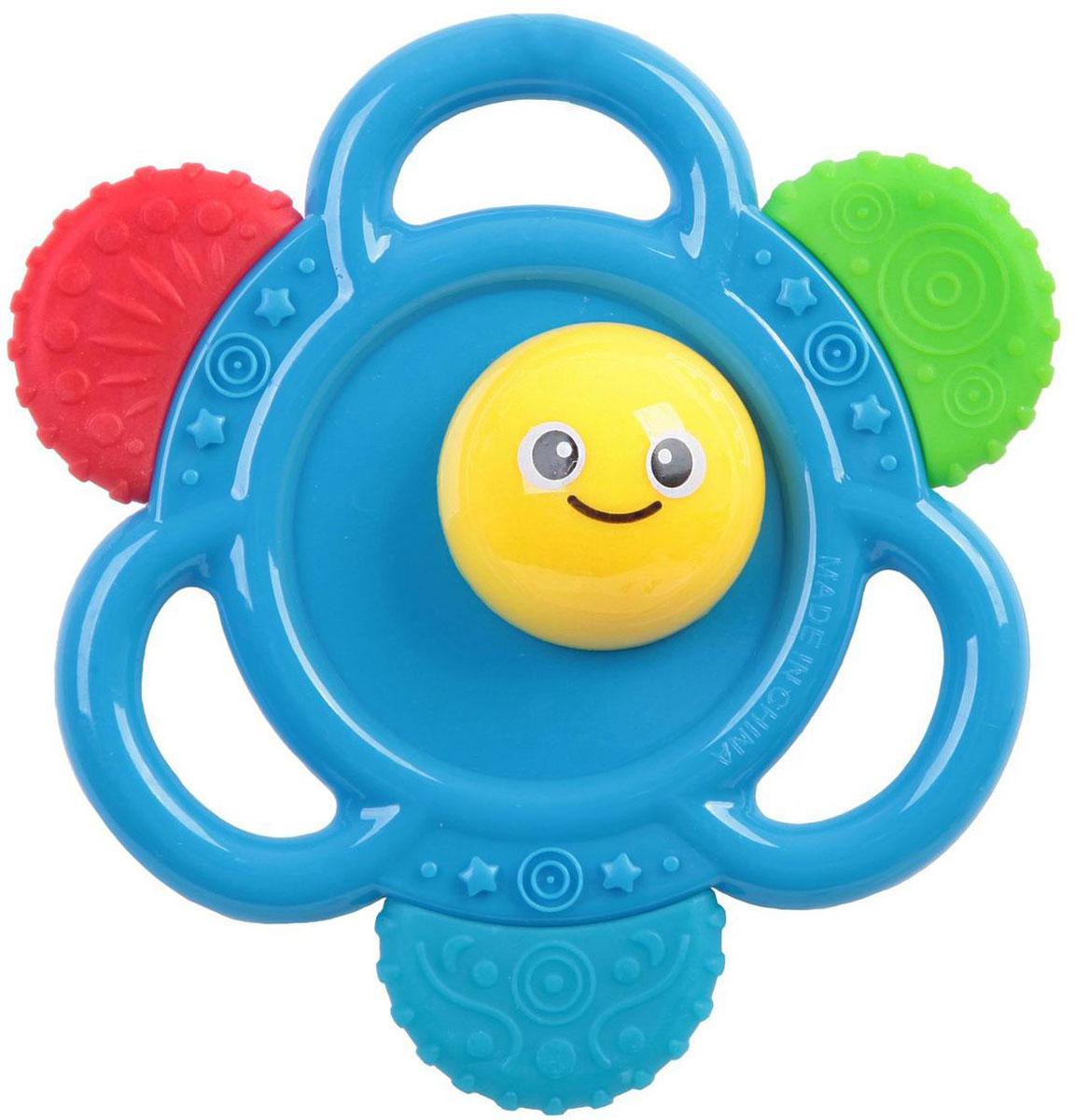 Bondibon Погремушка ЦветокВВ1479Погремушка Bondibon Цветок сможет развлечь ребенка дома, на прогулке, в поездке или гостях. Она изготовлена из прочного пластика и выполнена в виде голубого цветочка с небольшими удобными кольцами-держателями. Прорезыватели, находящиеся на поверхности погремушки, предназначены для легкого массажа десен в период, когда режутся зубки. Погремушка специально разработана с учетом особенностей строения ручек малыша и не будет скользить. Яркие цвета и звуки, которые издает игрушка, развивают слуховое и зрительное восприятия, пространственное мышление и тактильные ощущения.