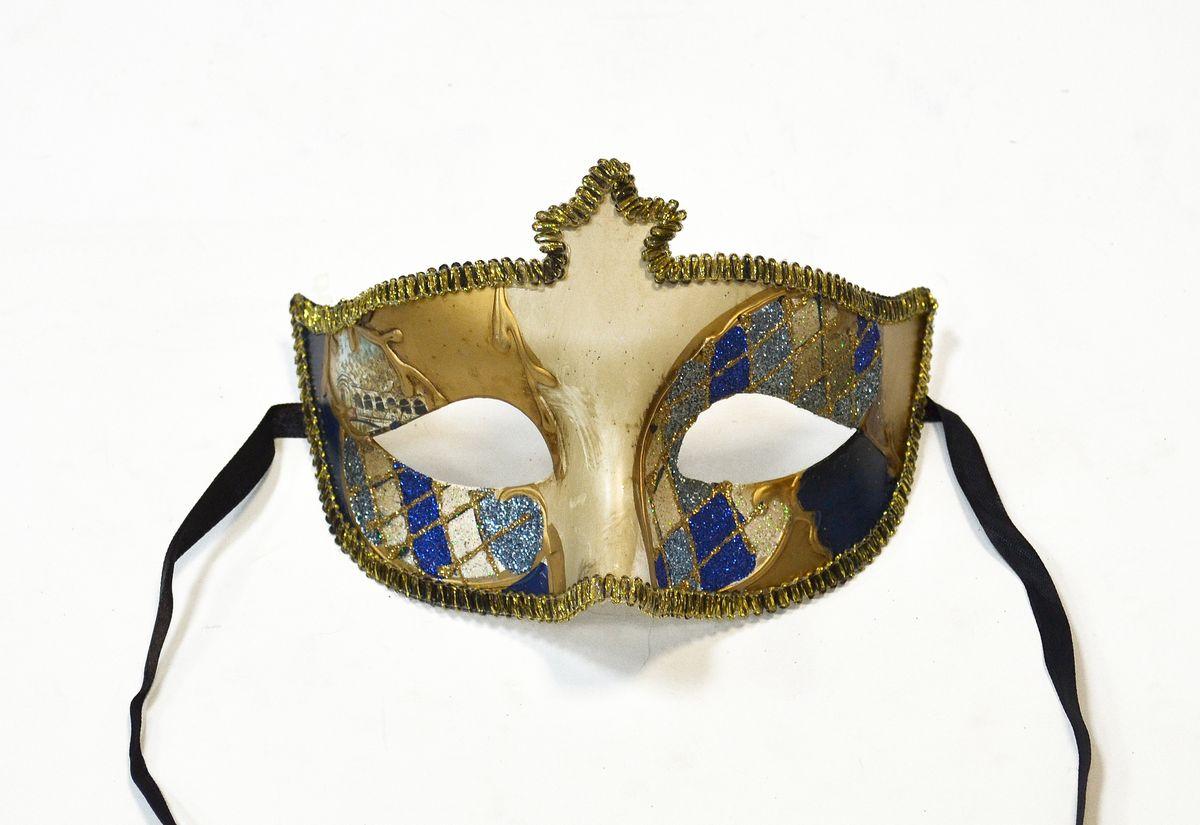Маска венецианская/полумаска , цвет: синийWD16662_Bl