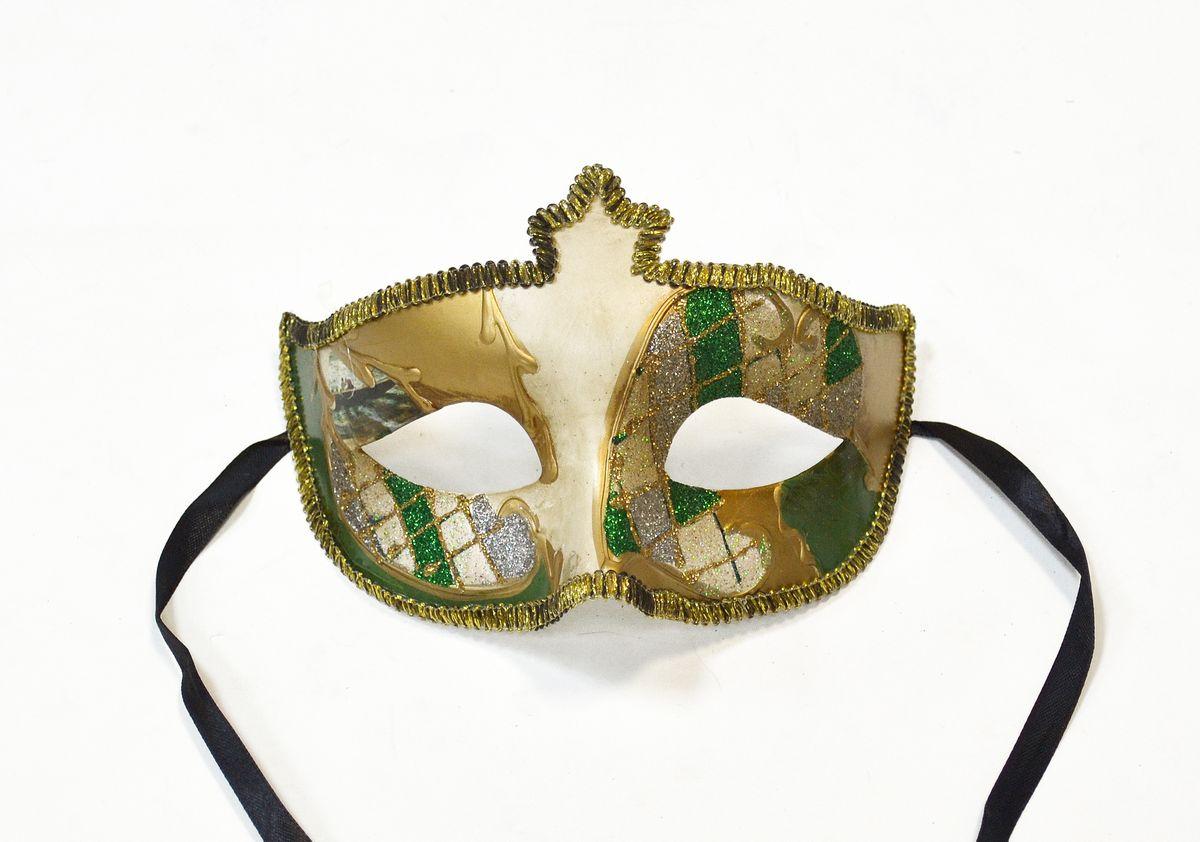 Маска венецианская/полумаска , цвет: зеленыйWD16662_G