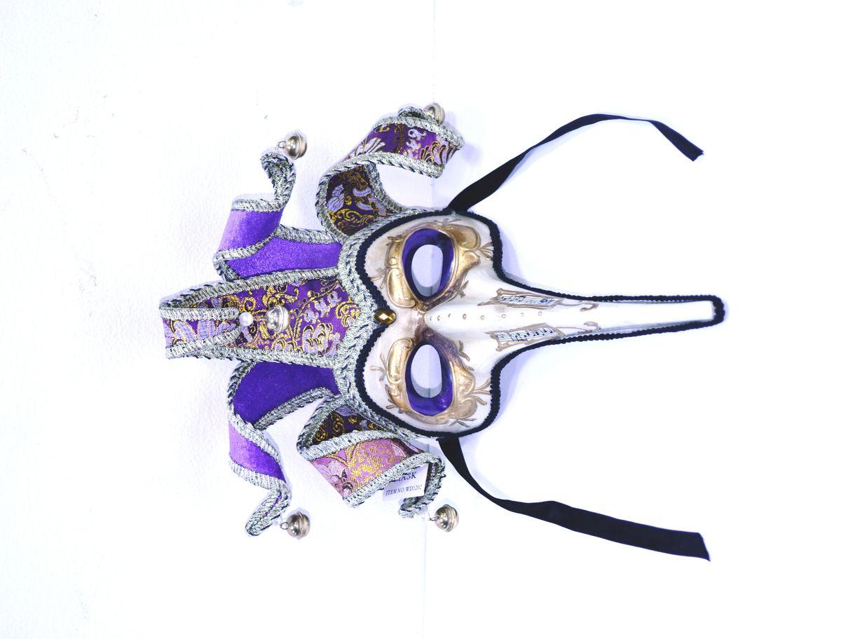 Маска венецианская Лекарь , цвет: фиолетовыйWD1202_V