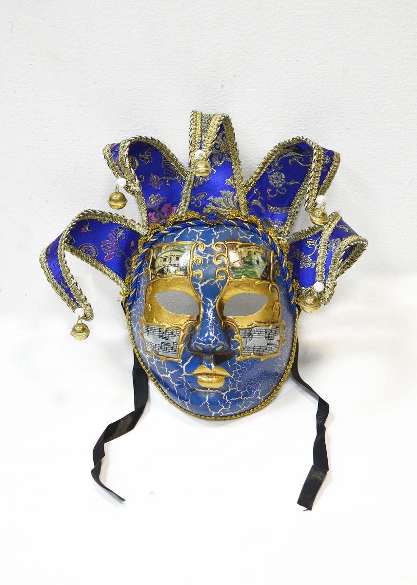 Маска венецианская Музыкальная коллекция, цвет: синийWD28_Bl