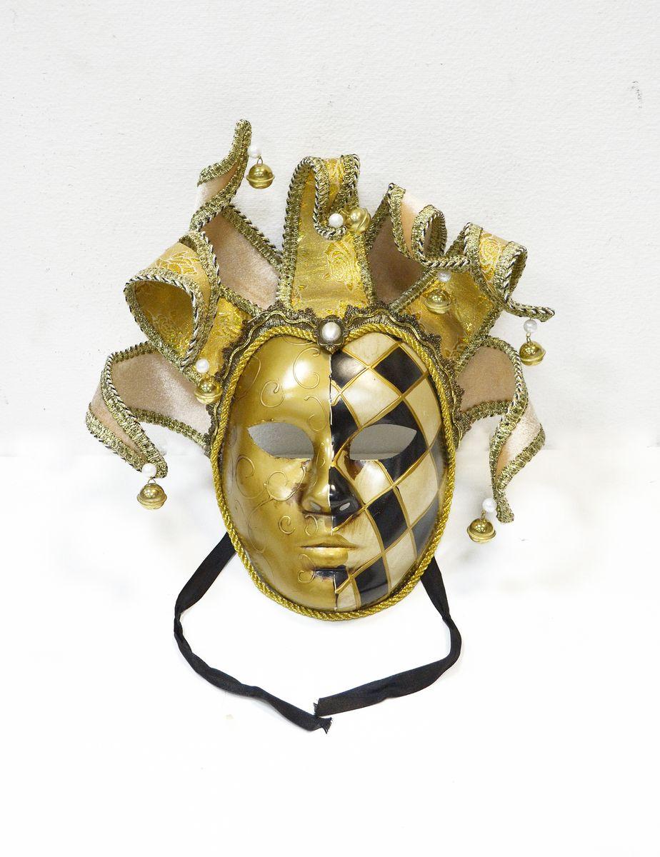 Маска венецианская Коломбина, цвет: золотойWD31_G