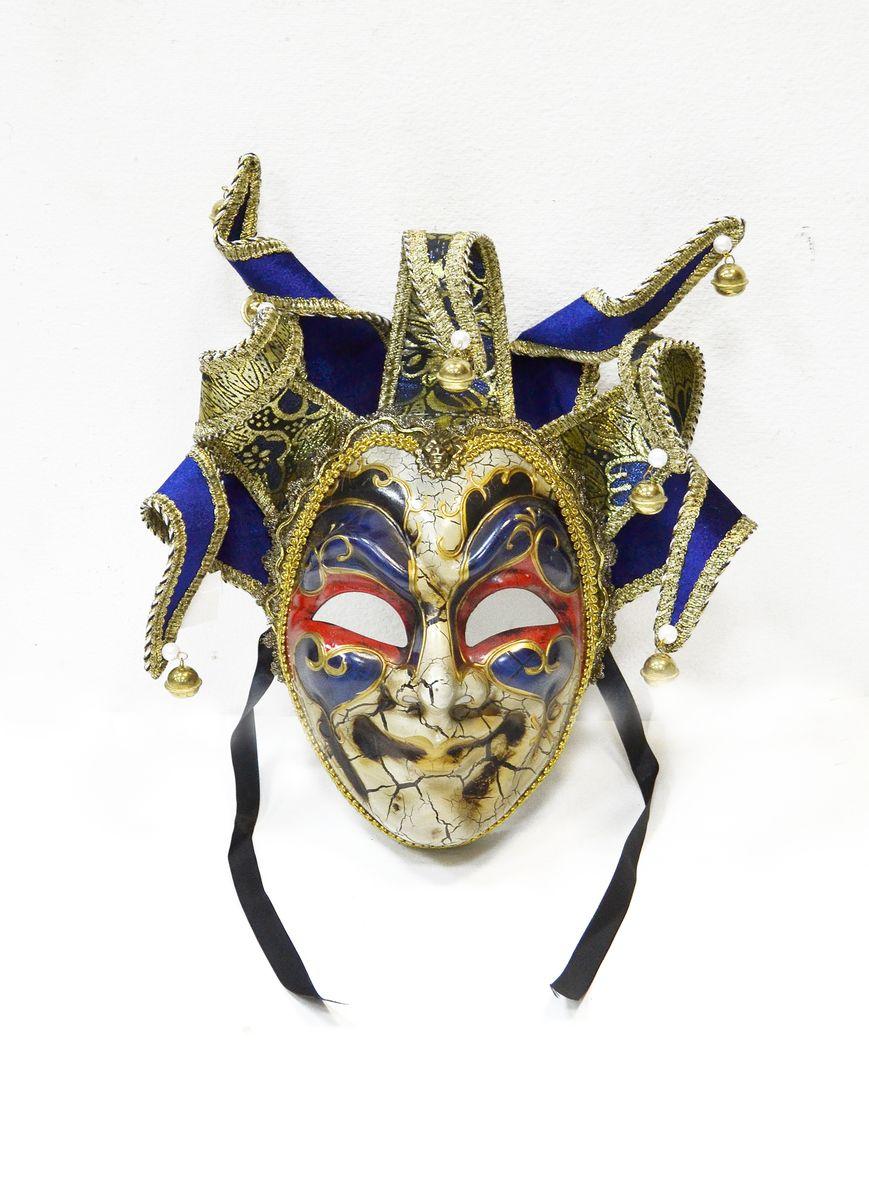 Маска венецианская Карнавал, цвет: синийWD30_Bl