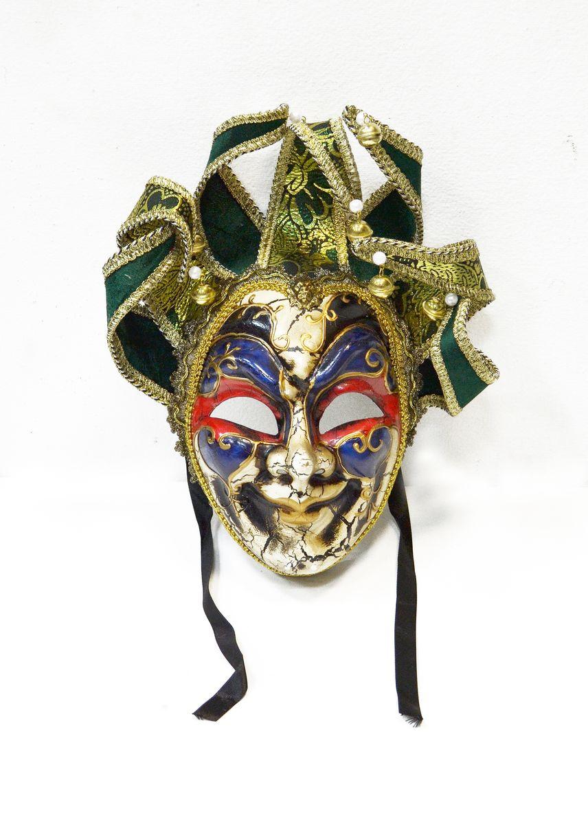 Маска венецианская Карнавал, цвет: зеленыйWD30_Gr