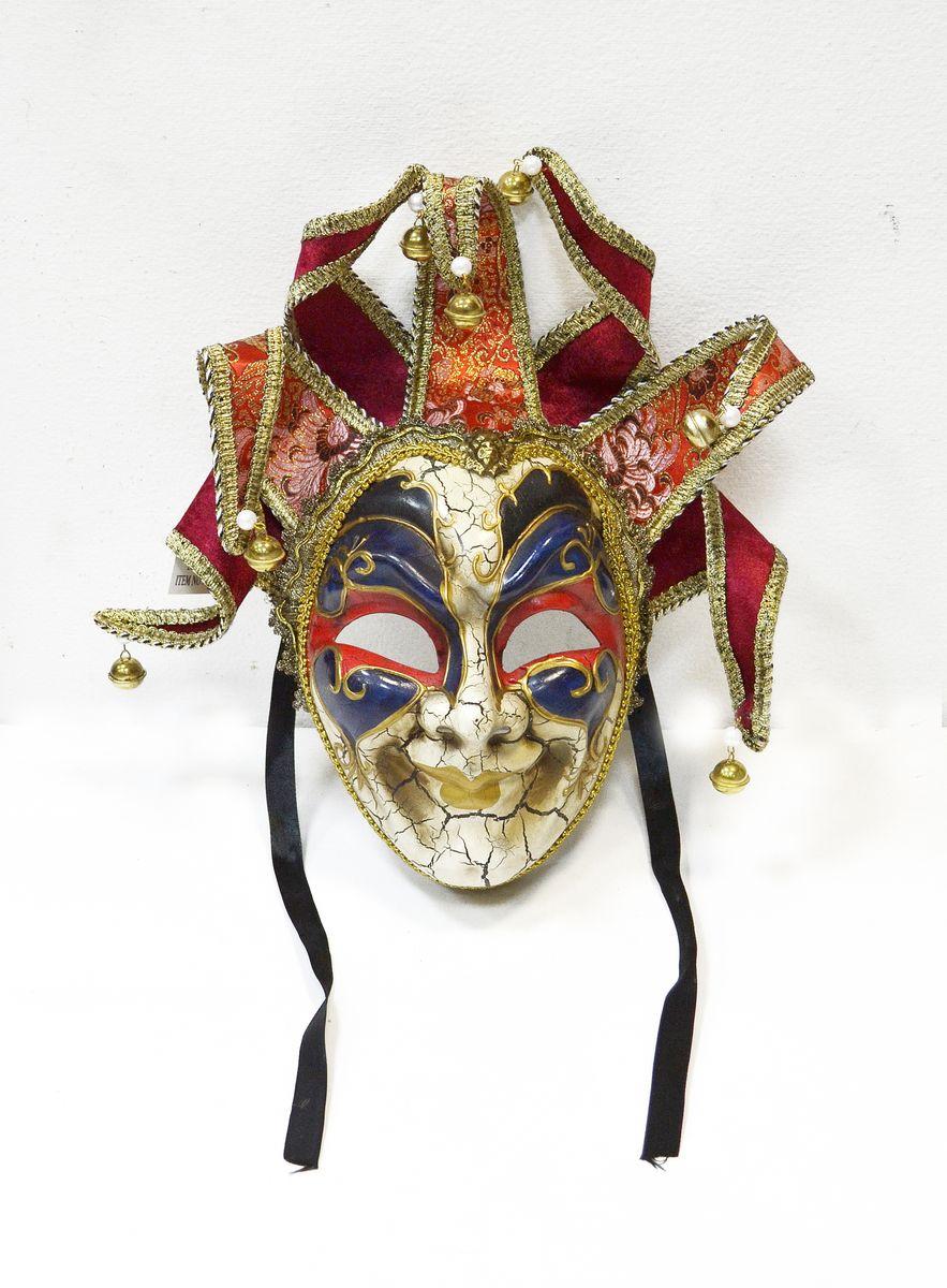 Маска венецианская Карнавал, цвет: красныйWD30_R