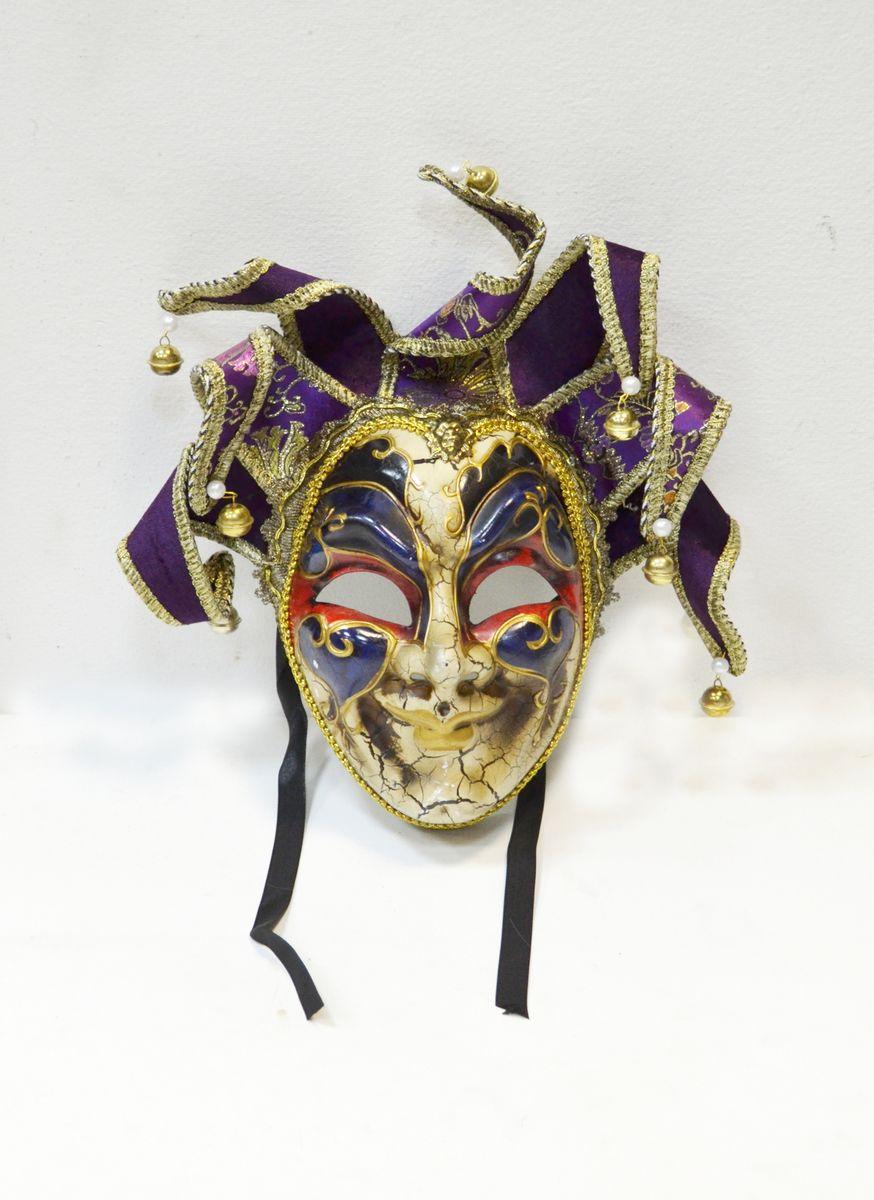 Маска венецианская Карнавал, цвет: фиолетовыйWD30_V