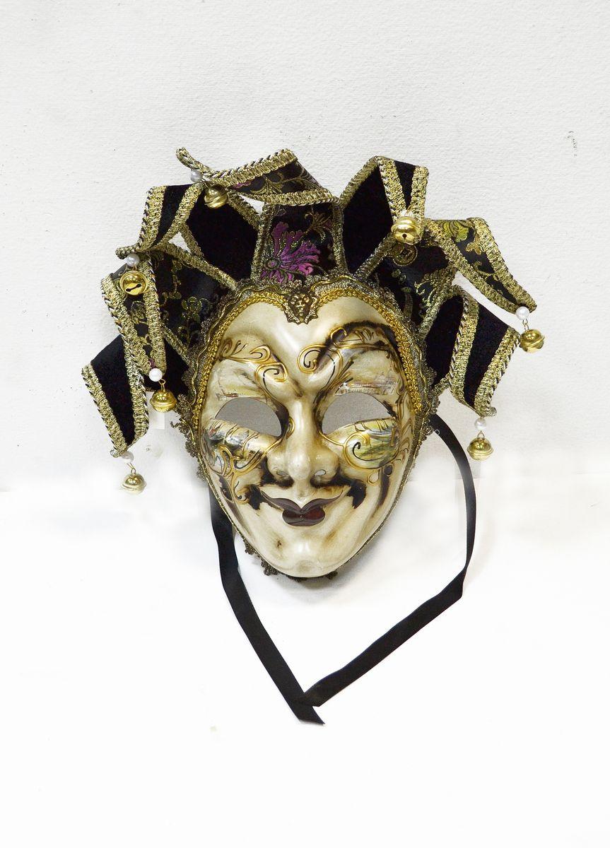 Маска венецианская Карнавал, цвет: черныйWD30_B