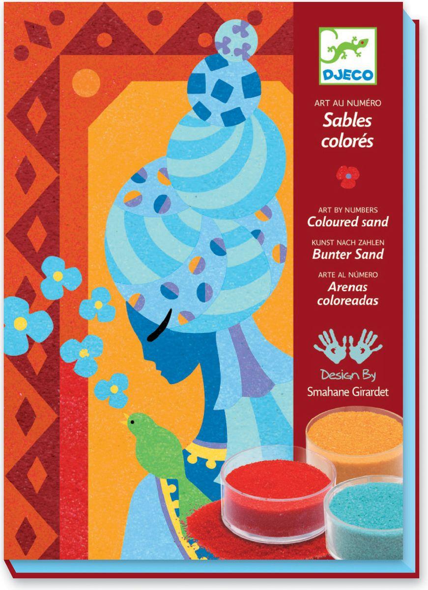 Djeco Набор для создания картины из цветного песка Голубые принцессы