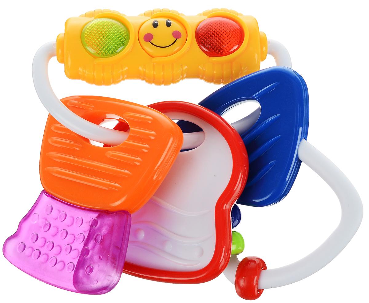 Умка Погремушка СветофорB557993-RПогремушка-прорезыватель Умка Светофор изготовлена из прочного и безопасного материала с использованием пищевых красителей. Она выполнена в форме светофора и элементов разных форм, которые дополнены рельефами и могут применяться в качестве прорезывателей. Спереди игрушки находится светящийся светофор и маленькие шарики, при помощи которых погремушка издает забавный шум. Забавная погремушка имеет подвижные элементы, что поспособствует развитию мелкой моторики рук ребенка. Такая яркая погремушка поможет успокоить вашего малыша и снять дискомфорт с детских десен во время роста первых зубов. Потребуются 2 батарейки типа LR44 (входят в комплект).