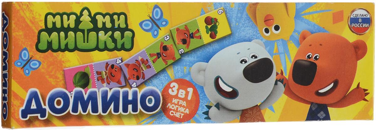 Умка Домино Ми-ми-мишки4690590101193Домино Умка Ми-ми-мишки - увлекательная настольная игра, благодаря которой дети проведут время весело, интересно и познавательно. Набор представлен игральными костями, выполненными из качественного пластика. Игра отличается от классического тем, что вместо точек на костях изображены забавные животные и фрукты. Игрокам необходимо выстроить игральные кости, соединяя изображения с одинаковым рисунком и цифрой. Если у игрока нет нужного изображения, он может брать дополнительные кости, пока не найдет соответствующую фишку. Победителем становится тот участник, которой первым избавится от всех своих фишек. Домино помимо приятного времяпровождения потренирует малышей навыкам счета, научит логически мыслить и быть внимательными.