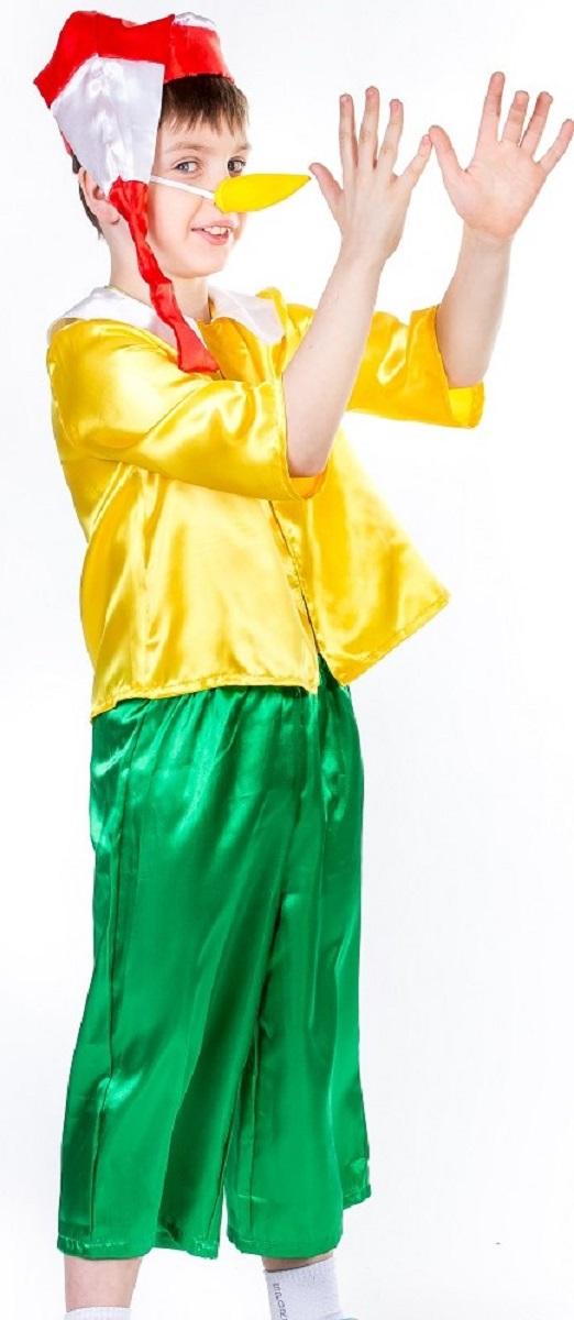 Карнавалия Карнавальный костюм для мальчика Буратино размер 11085203Яркий детский карнавальный костюм Карнавалия Буратино позволит вашему ребенку быть самым интересным героем на детском утреннике, бале-маскараде или карнавале. В комплект входят шорты, рубашка, колпак, нос на резинке. Рубашка застегивается на липучку. Брюки на резинке. Рост ребенка: 110 см. Материал: 100% полиэстер. В этом костюме ваш ребенок почувствует себя настоящим сказочным героем! Костюм привлечет внимание друзей вашего ребенка и подчеркнет его индивидуальность. Веселое настроение и масса положительных эмоций будут обеспечены!
