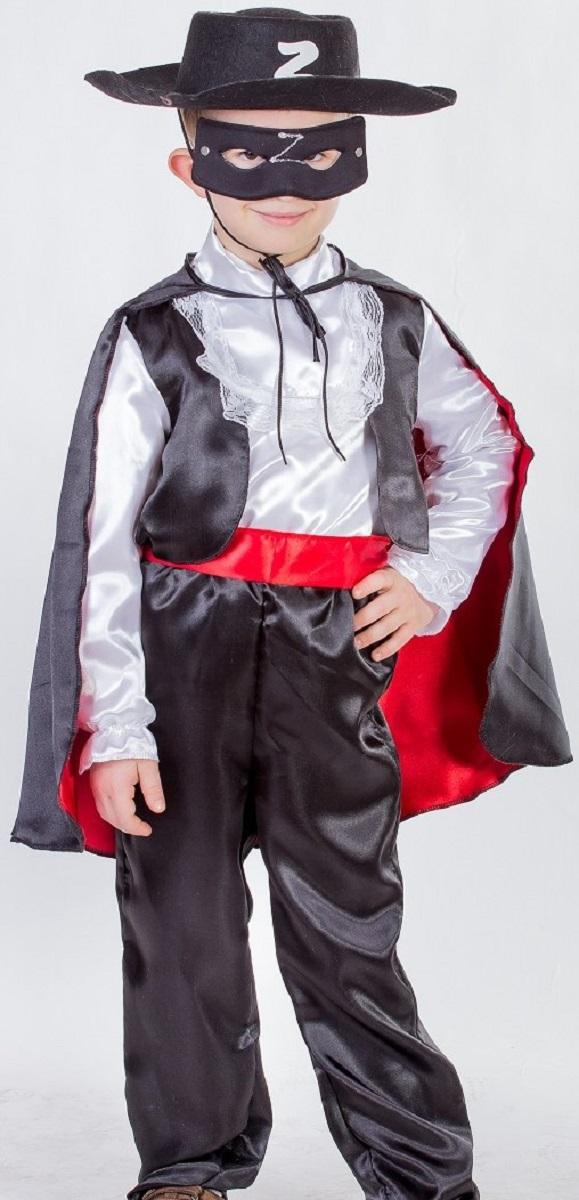 Карнавалия Карнавальный костюм для мальчика Зорро цвет черный белый красный размер 13485010