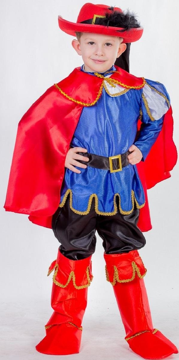 Карнавалия Карнавальный костюм для мальчика Кот в сапогах размер 11085218Детский карнавальный костюм Карнавалия Кот в сапогах позволит вашему ребенку быть самым интересным героем на детском утреннике, бале-маскараде или карнавале. В комплект входят шляпа, камзол, плащ, брюки и сапоги. Рост ребенка: 110 см. Материал: 100% полиэстер. В этом костюме мальчик почувствует себя настоящим сказочным героем. Костюм привлечет внимание друзей вашего ребенка и подчеркнет его индивидуальность. Веселое настроение и масса положительных эмоций будут обеспечены! Благодаря высококачественным материалам, которые использовались при пошиве костюма, за ним легко ухаживать и он сохранит первозданный вид на долгие годы.