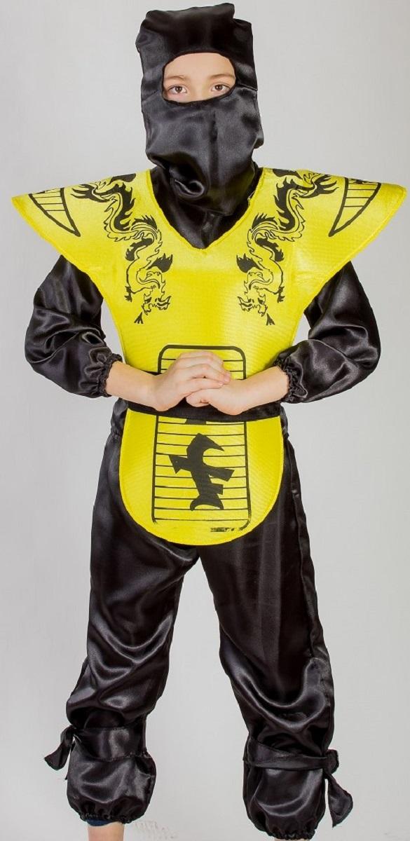 Карнавалия Карнавальный костюм для мальчика Ниндзя цвет черный желтый размер 13485023
